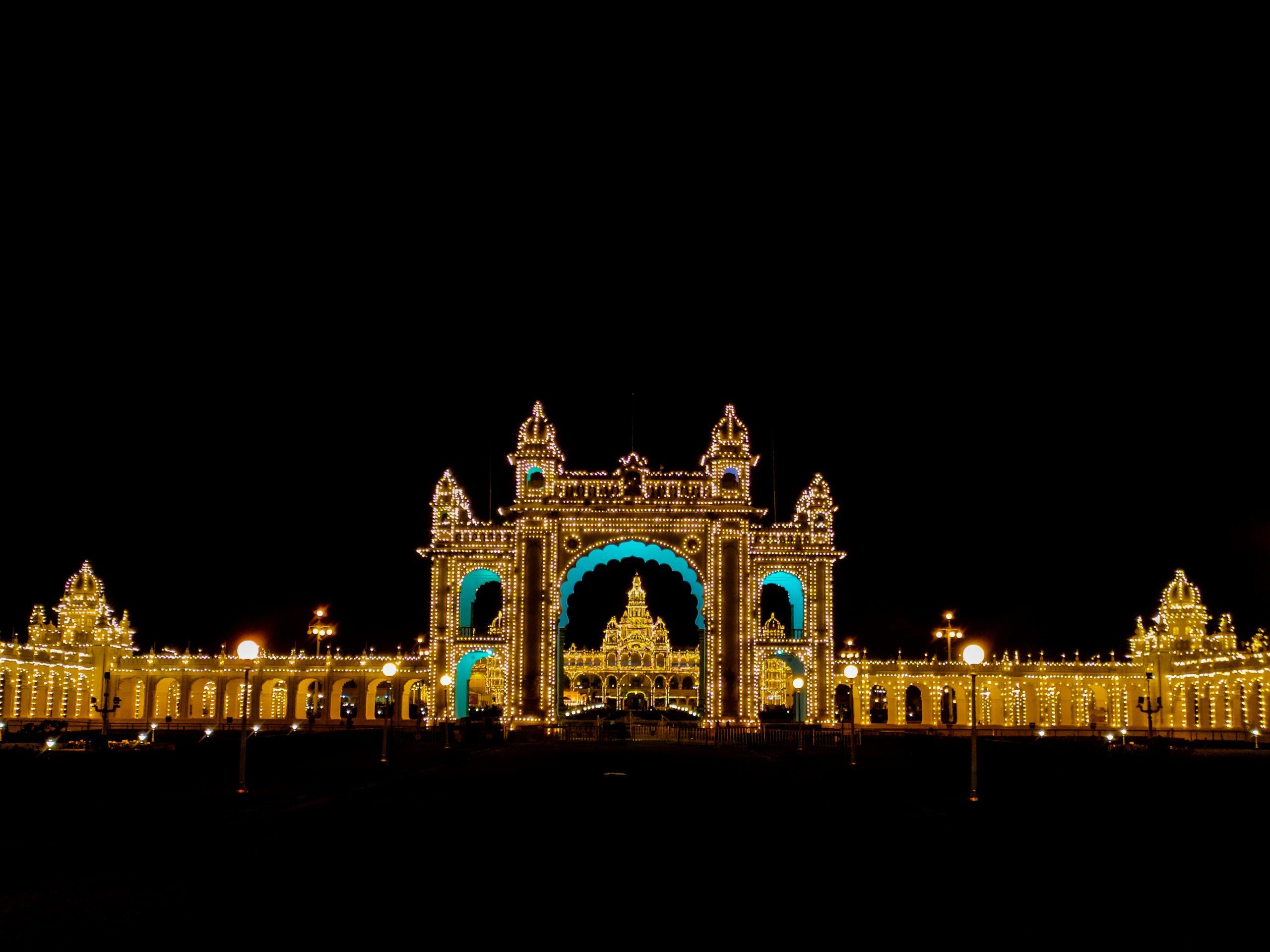 Mysore Palace during night