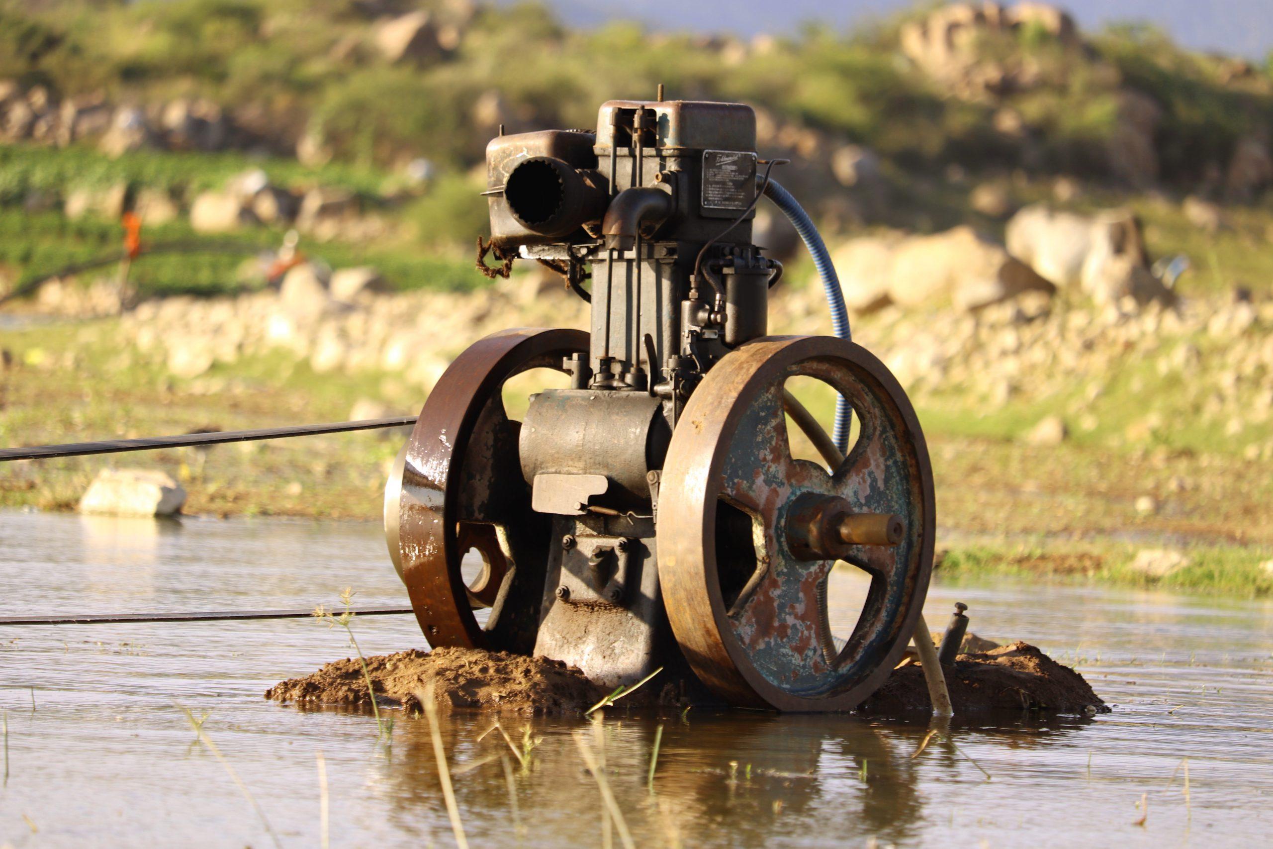 A motor in a river