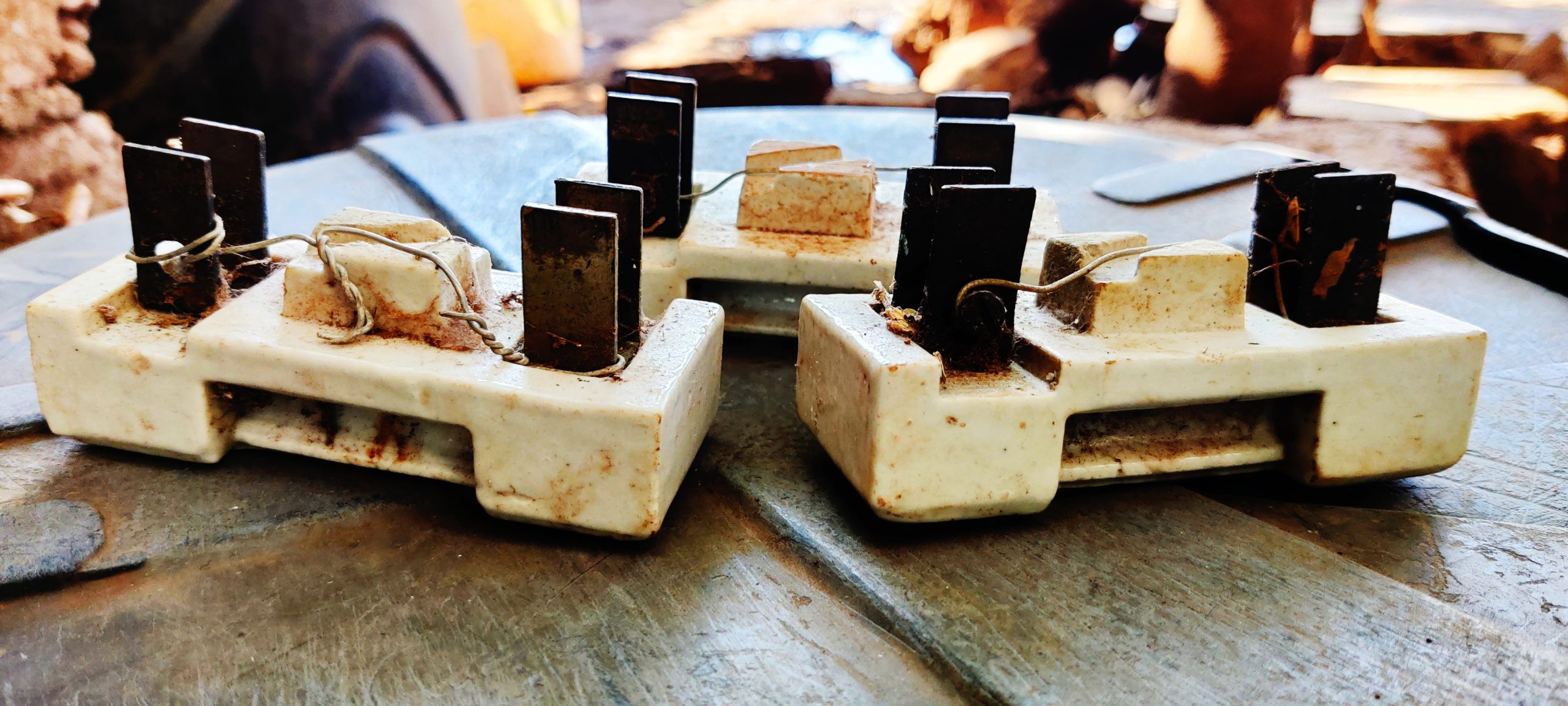 Old electrical fuses