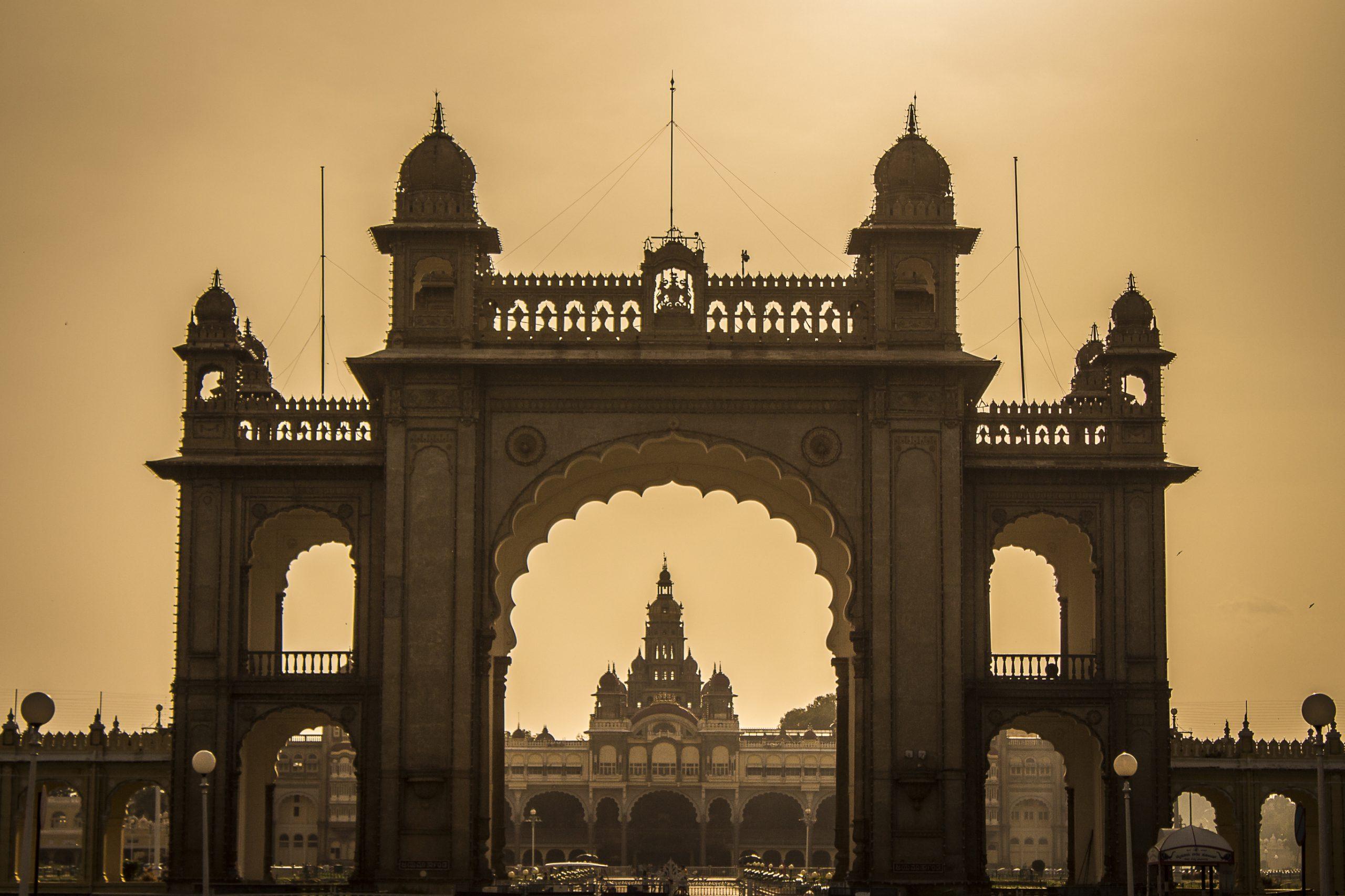 Entrance gate of Mysore Palace in Karnataka