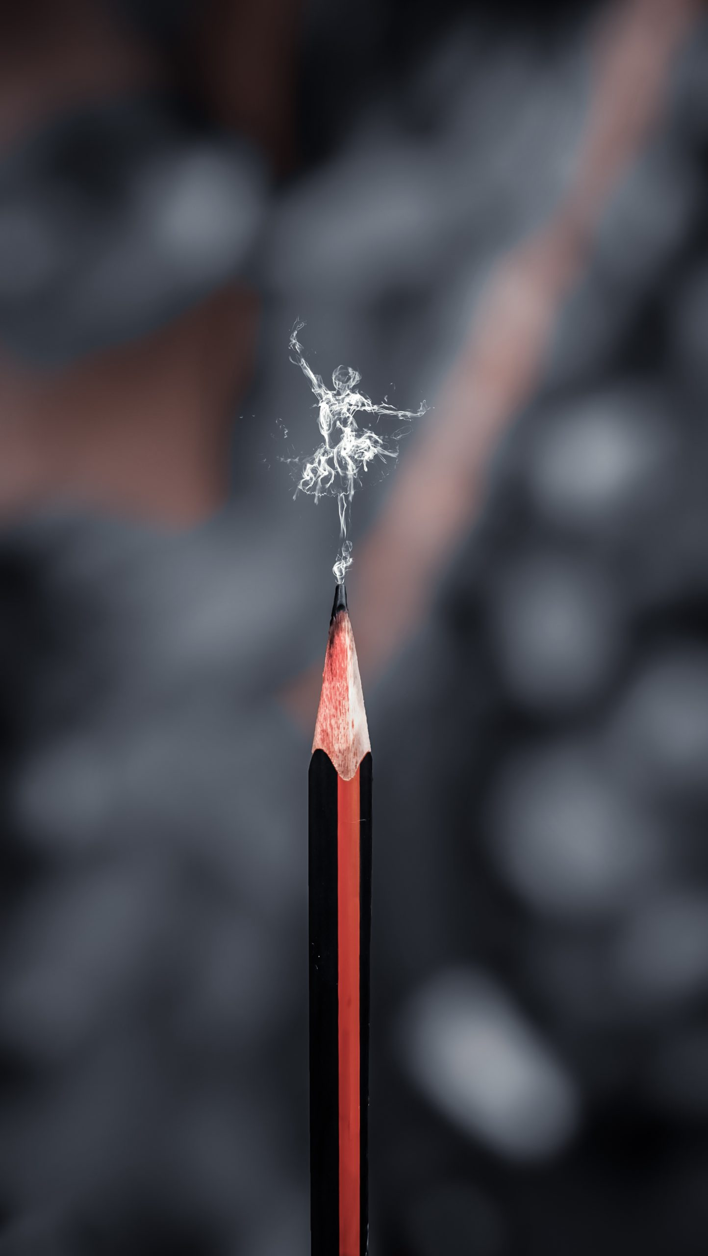 Dance illustration on a pencil tip