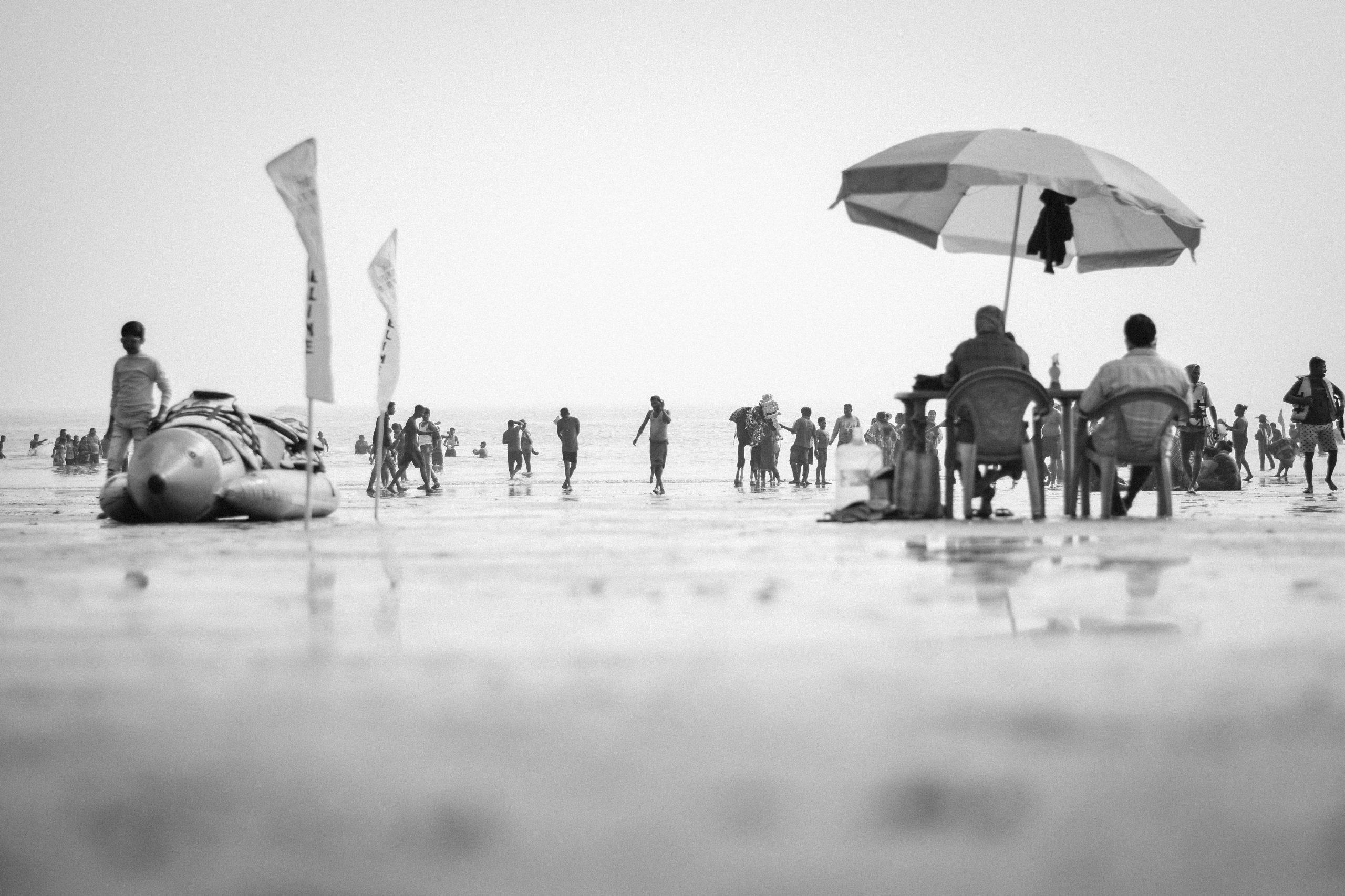 People at Digha Beach