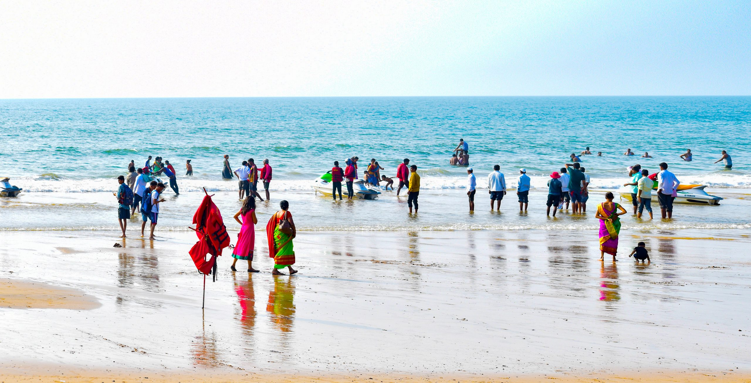 People at a Beach in Ganpatipule, Maharashtra