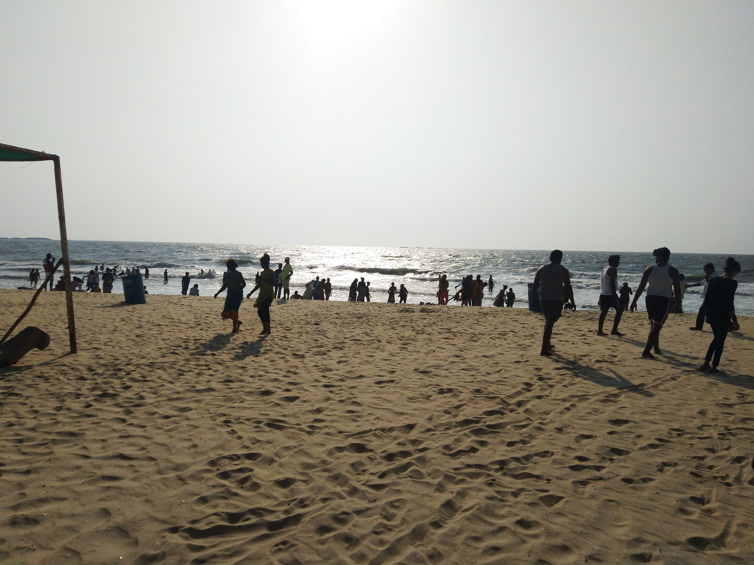 People at a beach