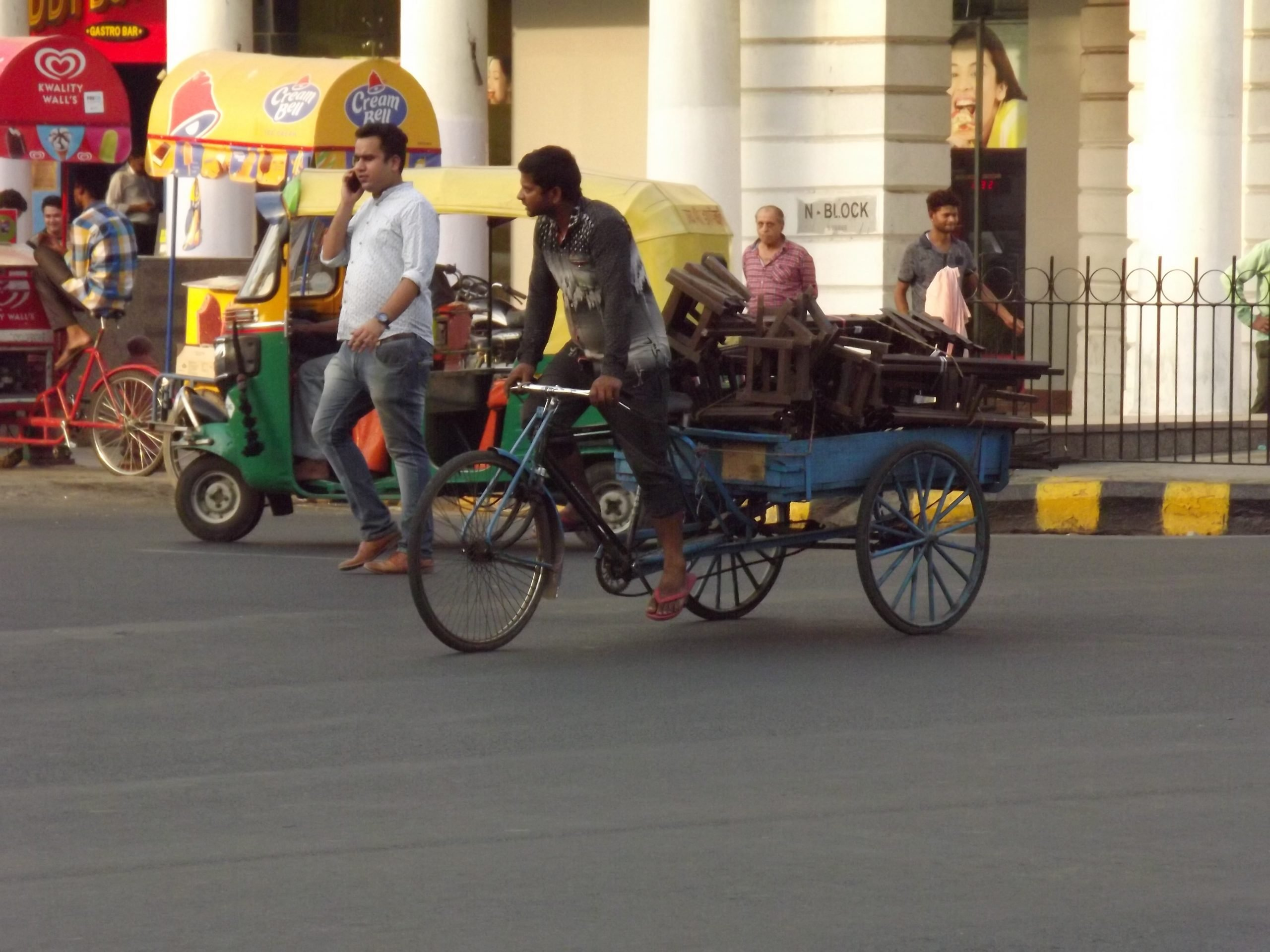People at cannaught place Delhi