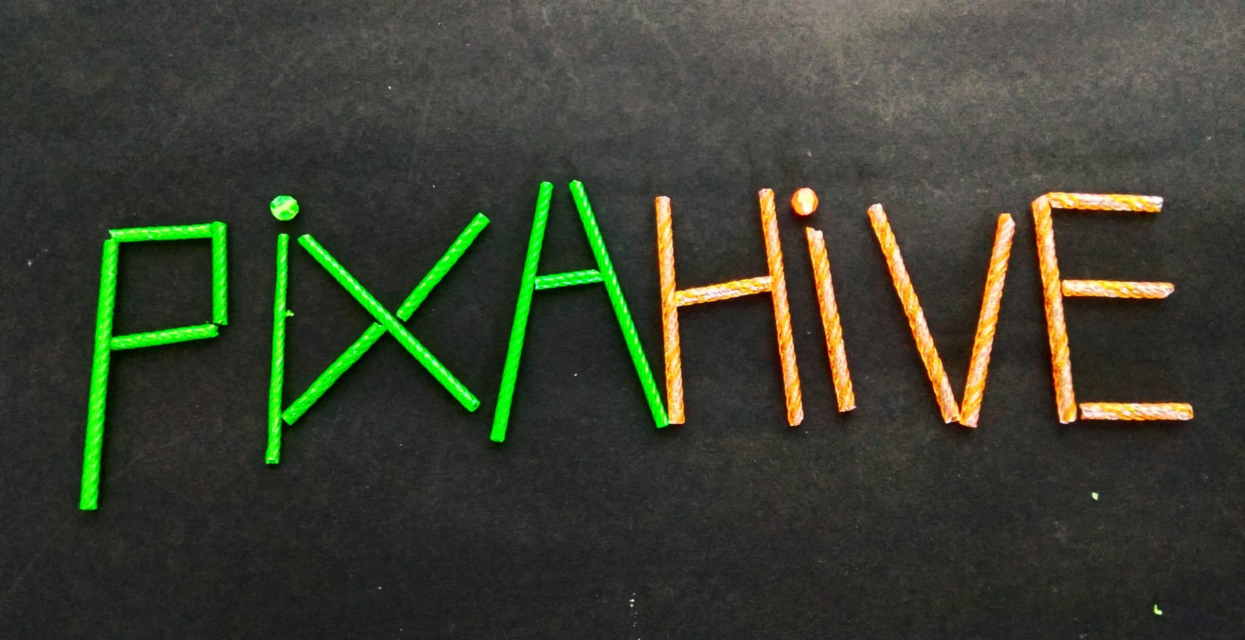 Pixahive written with sticks
