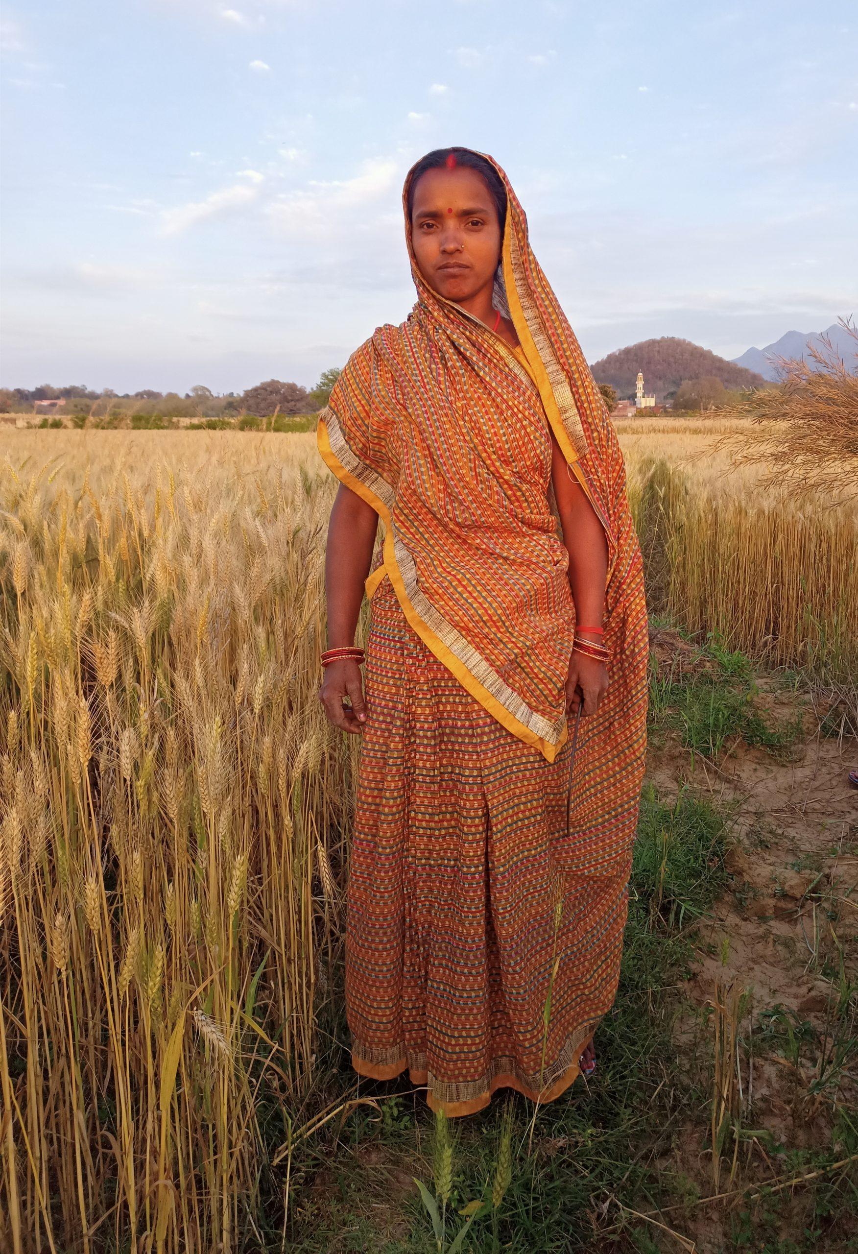 Portrait of a lady farmer