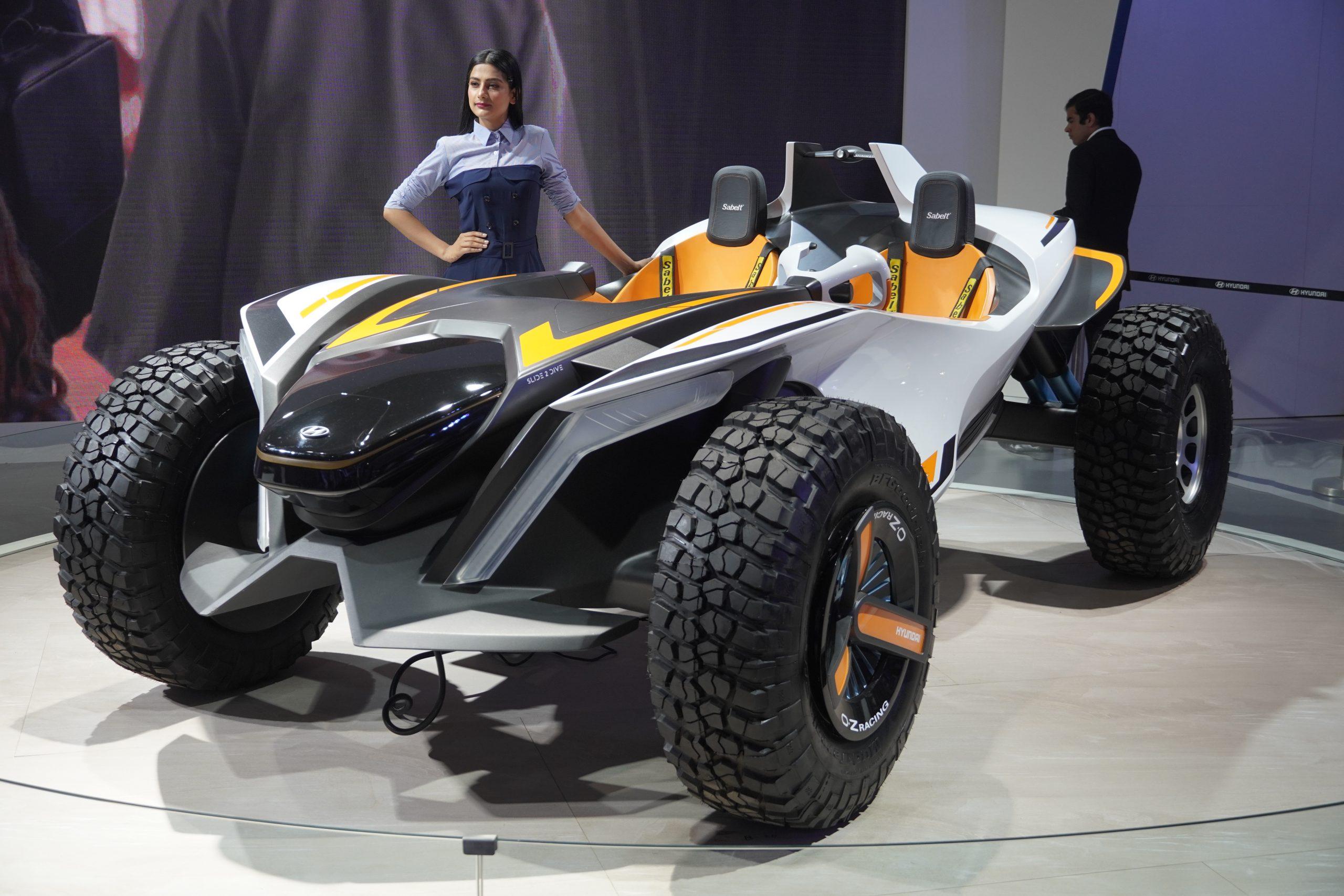 An open wheel car