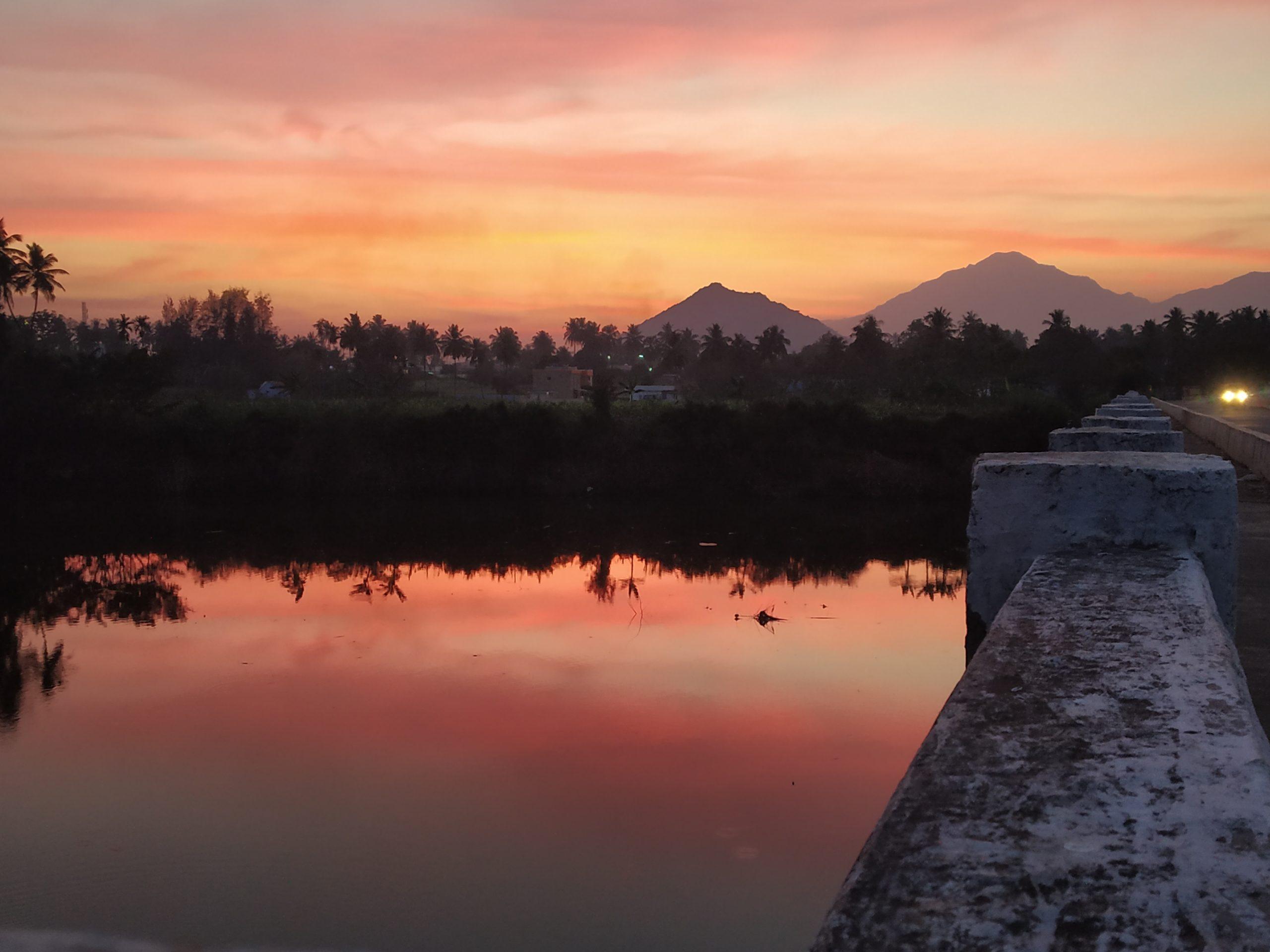 River side Sunset