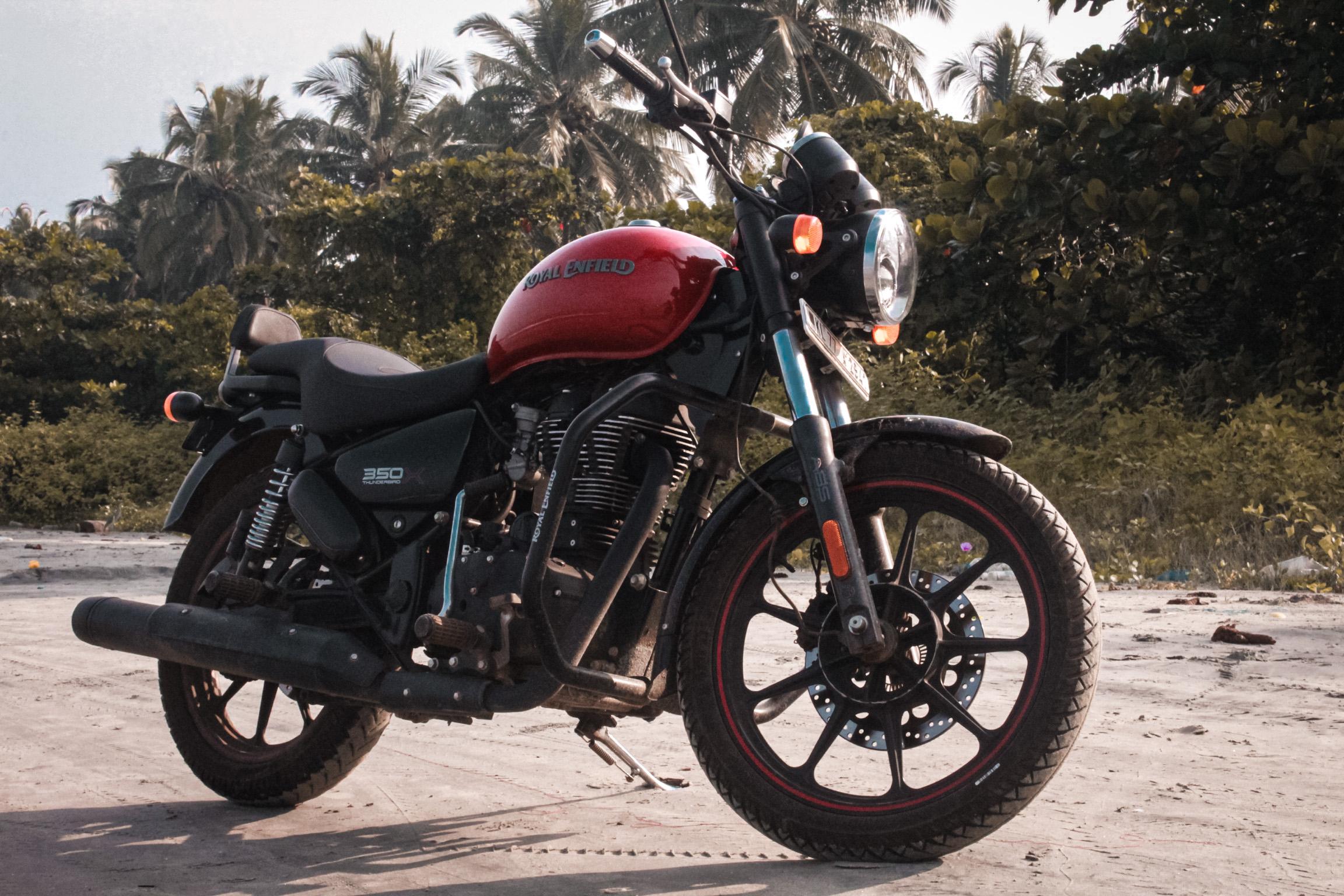 motorbike on road