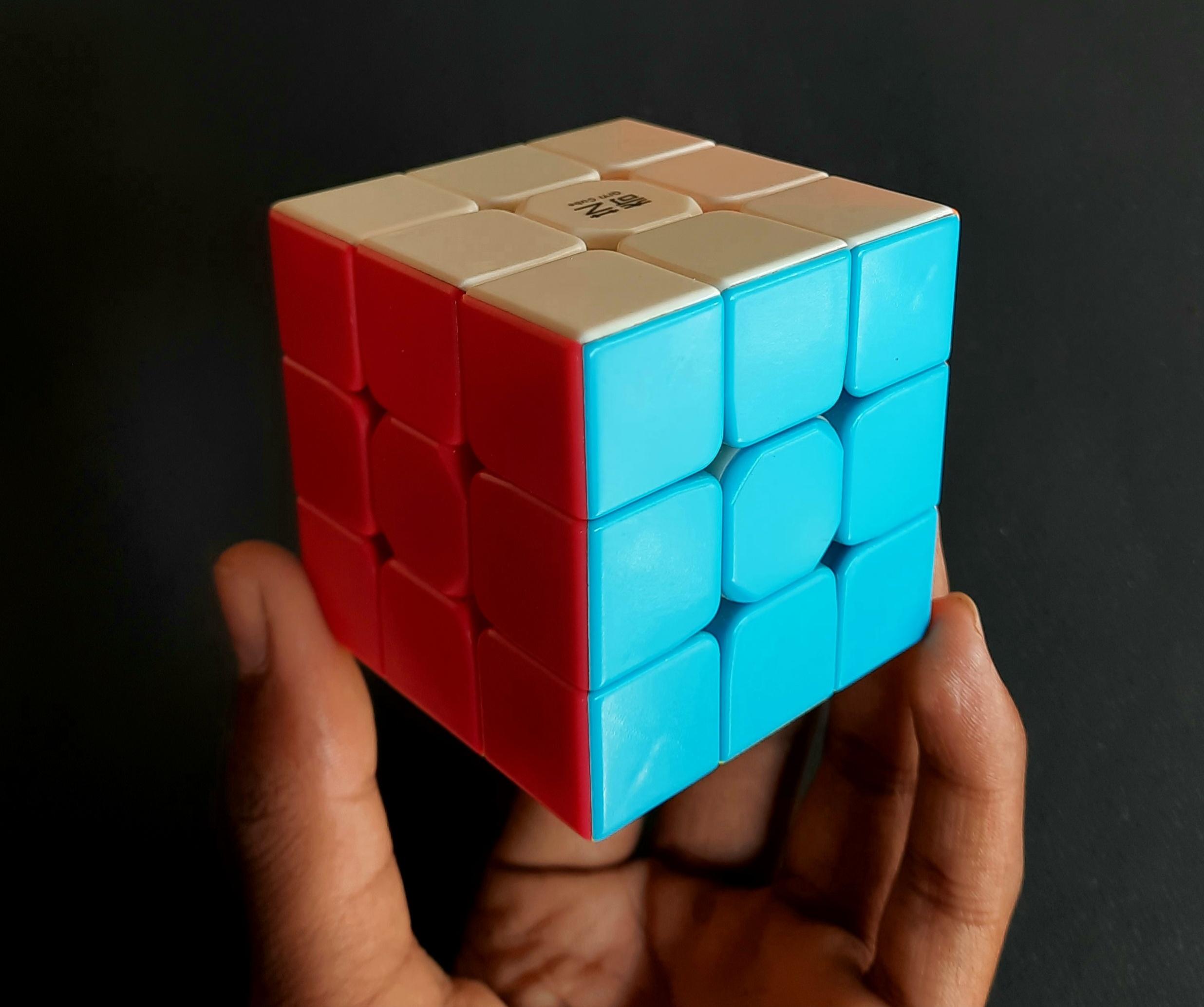 rubik's cube in hand