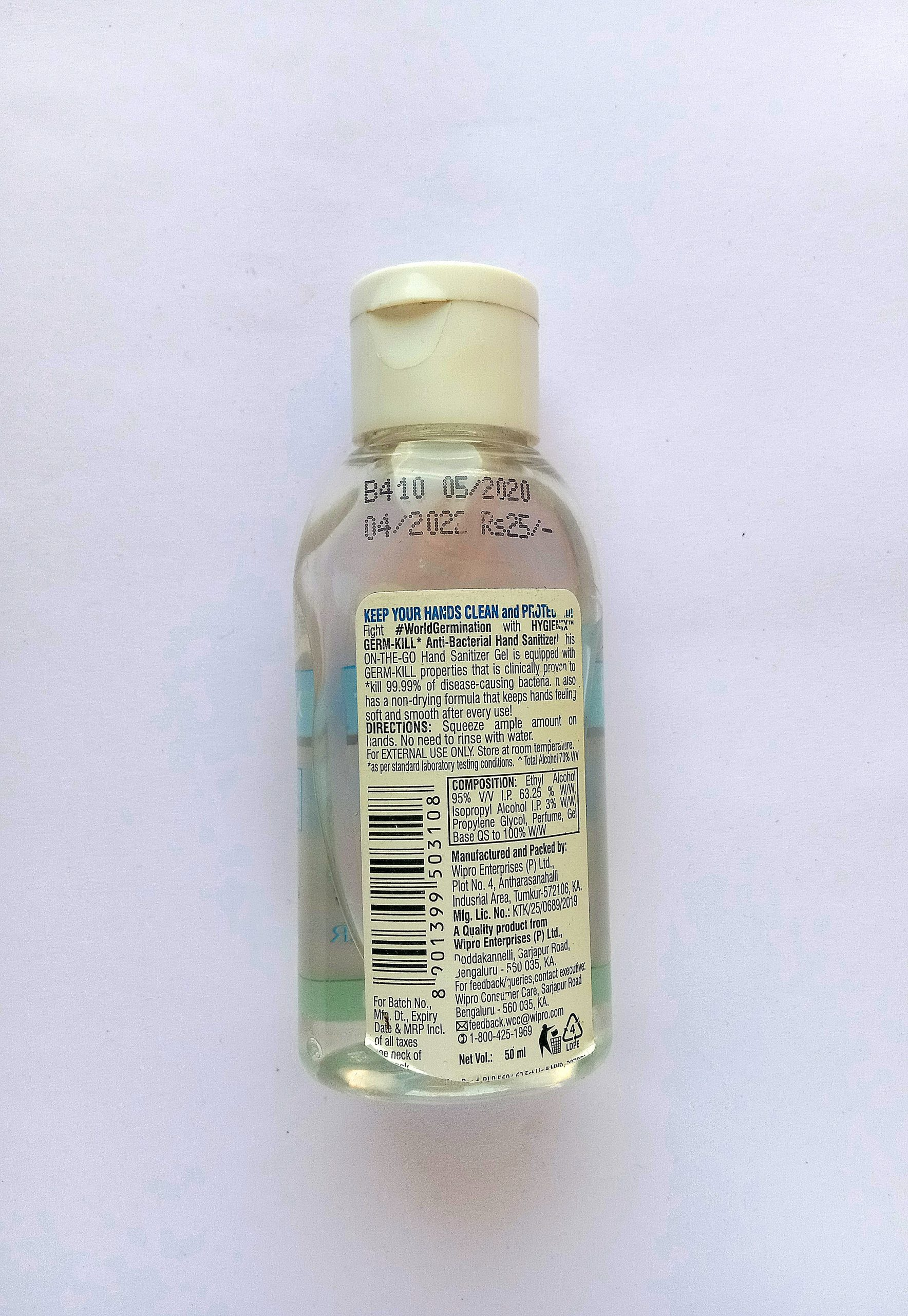 A hand sanitizer product