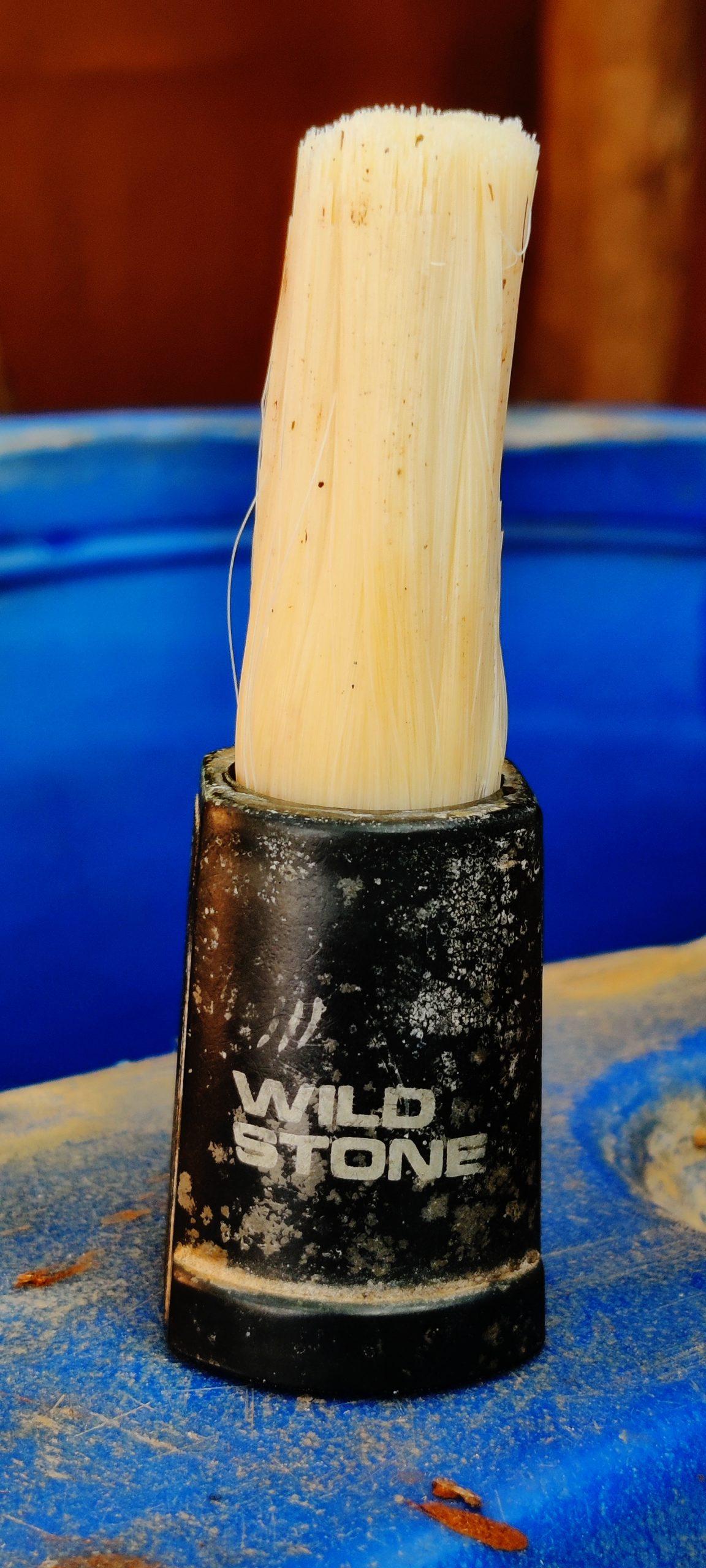 A shaving brush