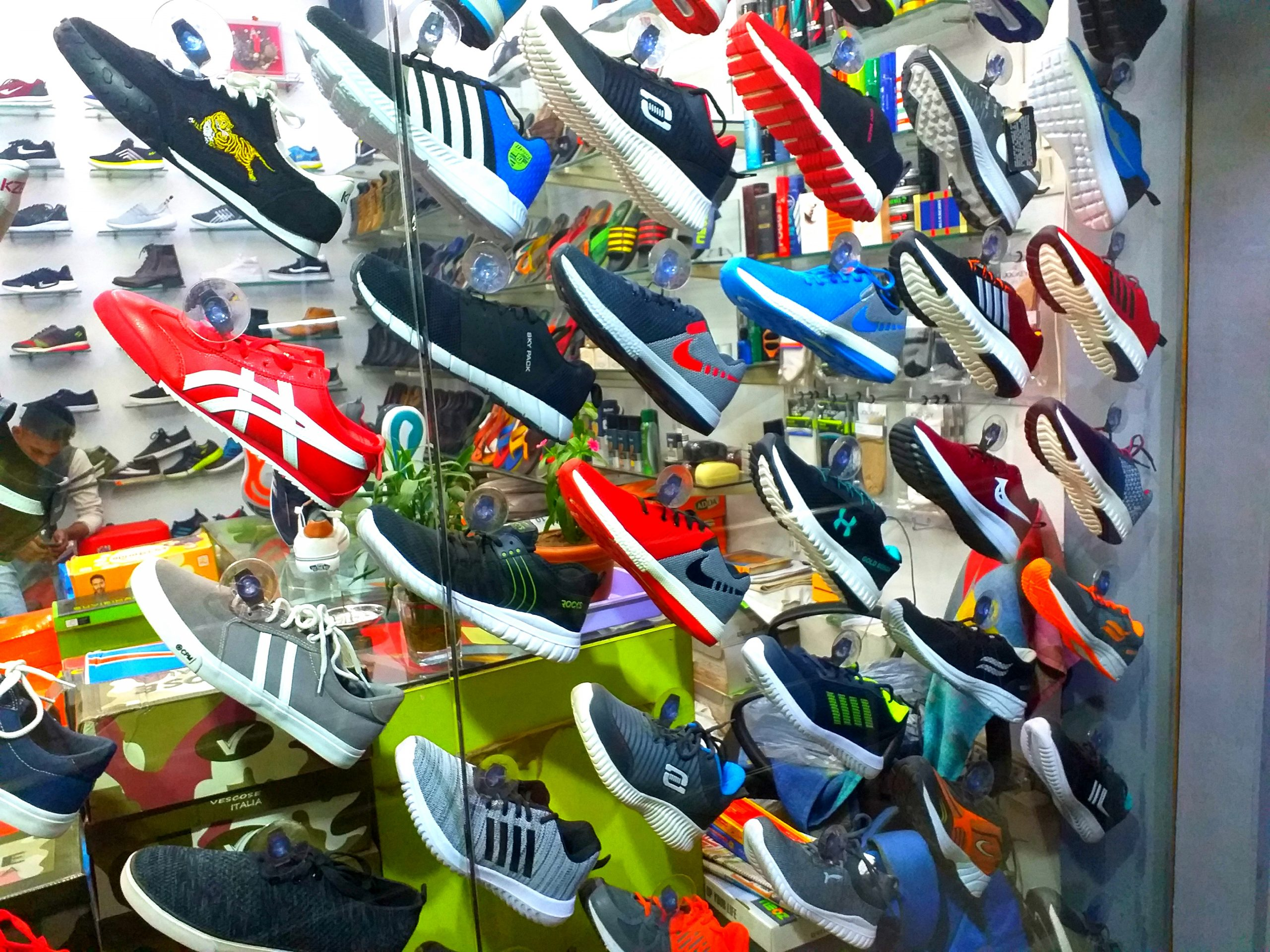 Shoes in a store