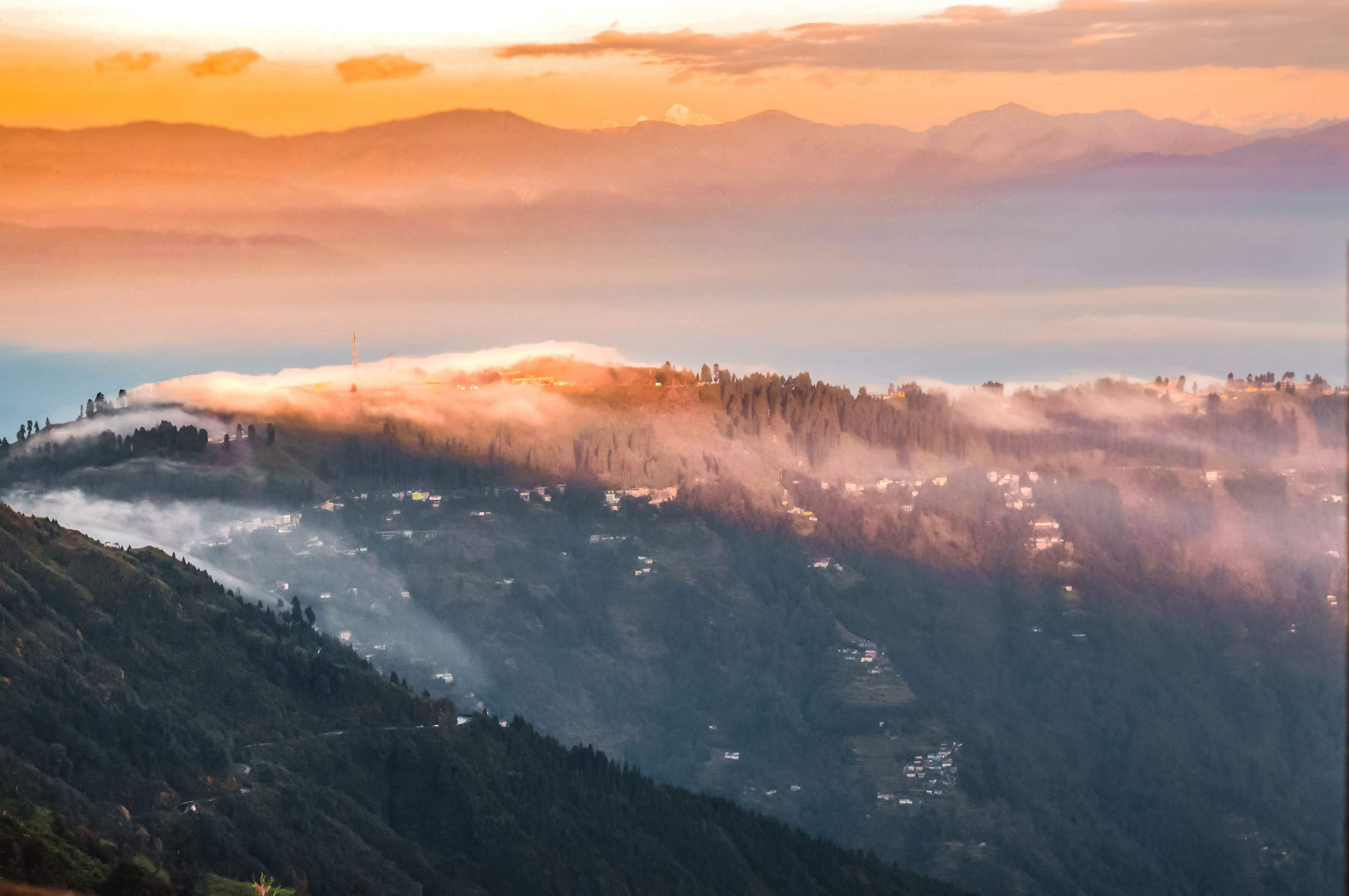 Sikkim mountains during morning