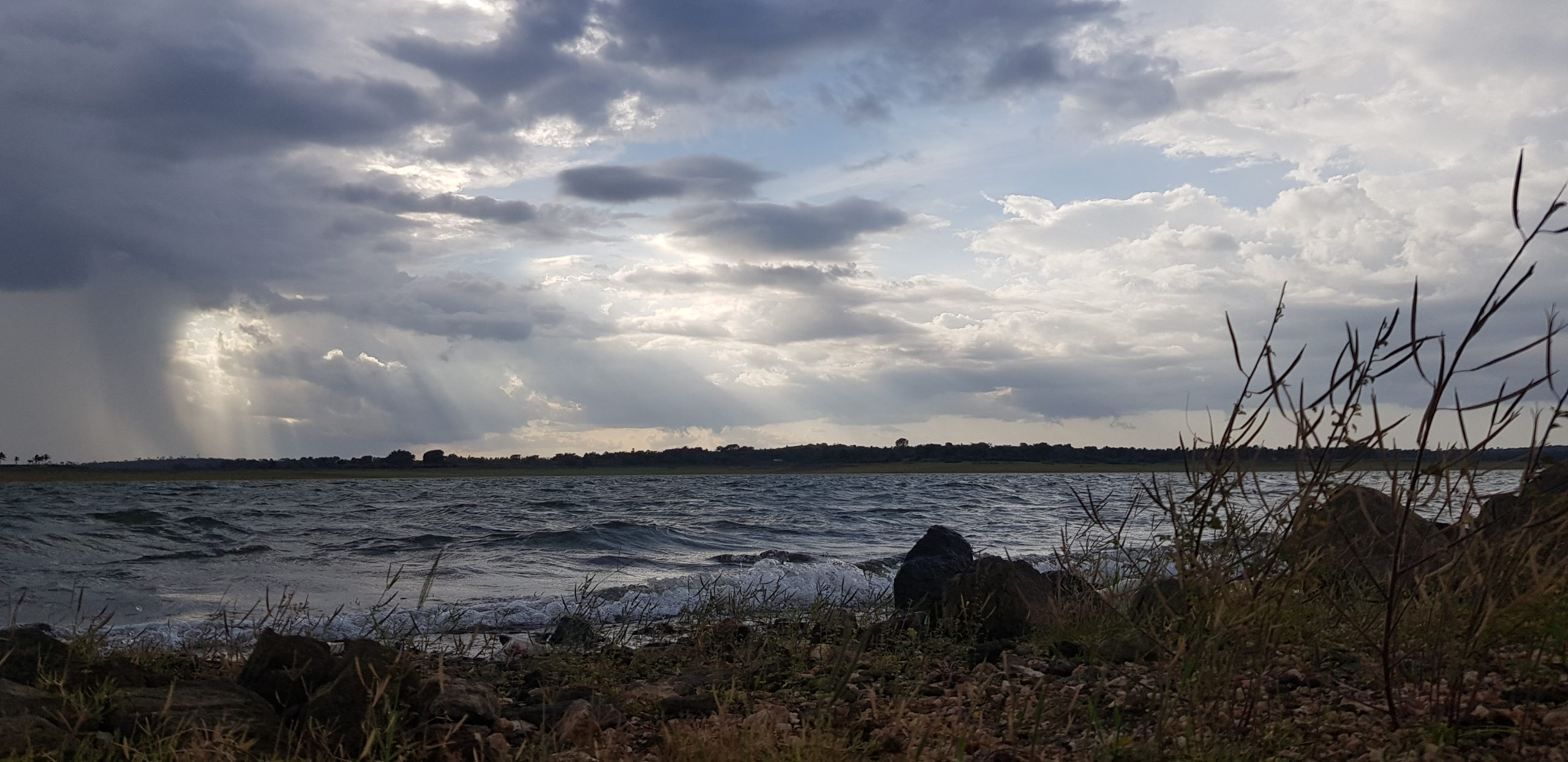 Landscape of water and clouds