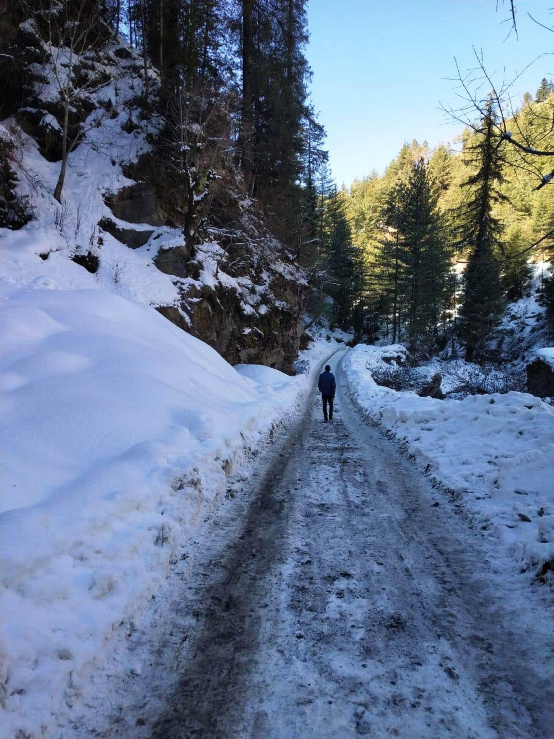 A snowy way