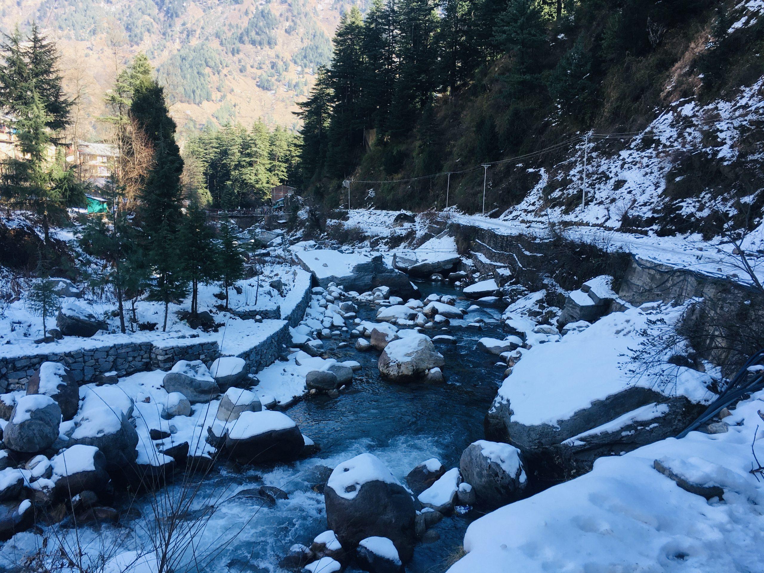 Snowy Beas river