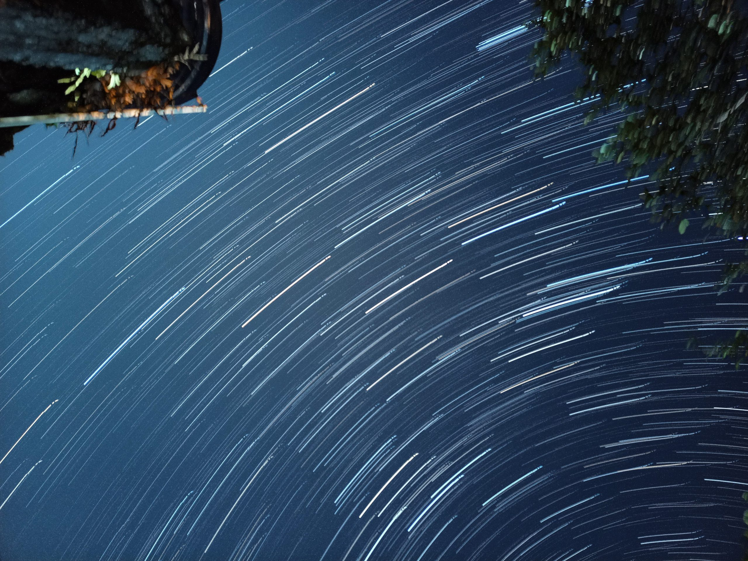 Star light trails