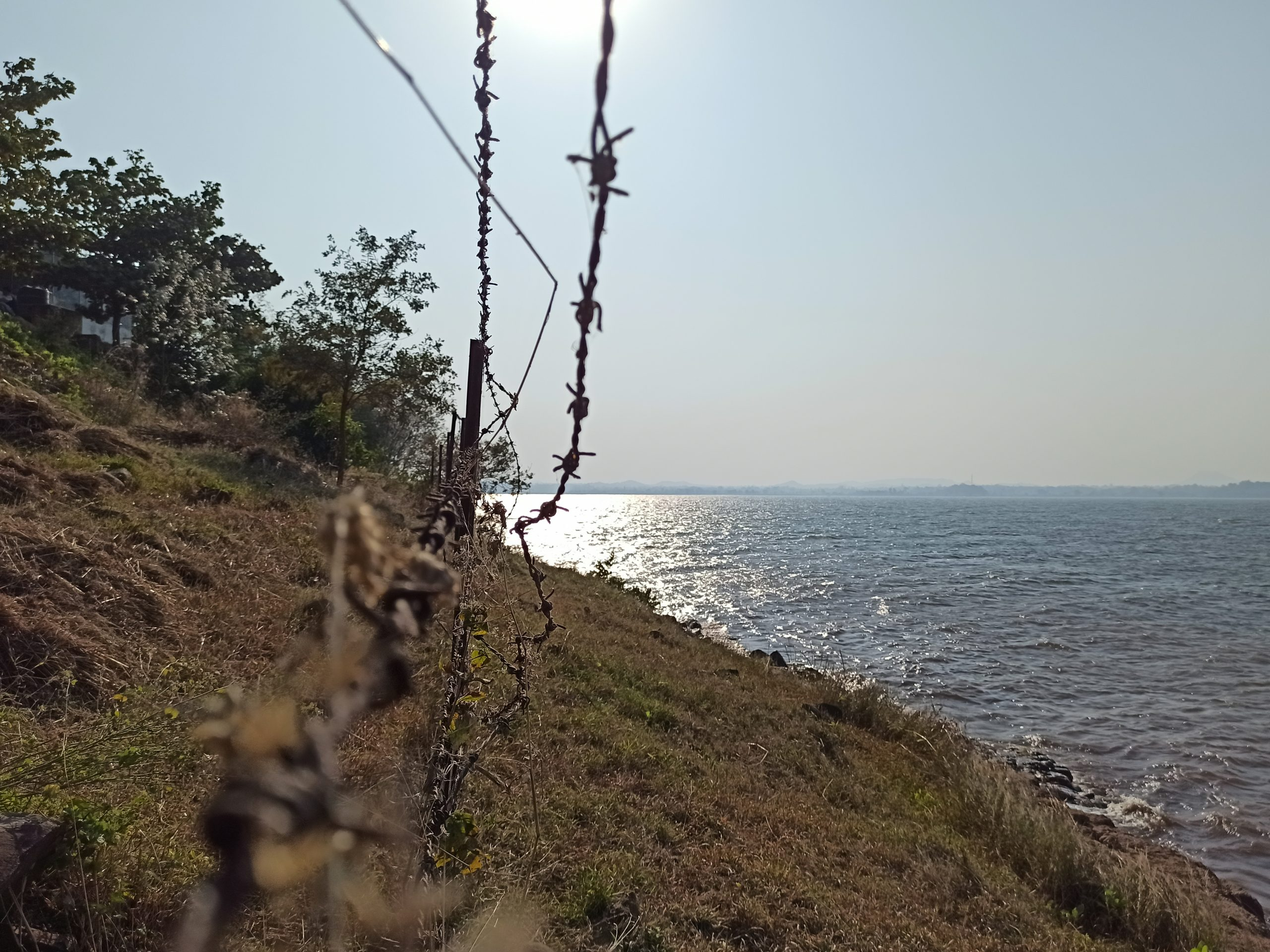 Wire fencing on a beach