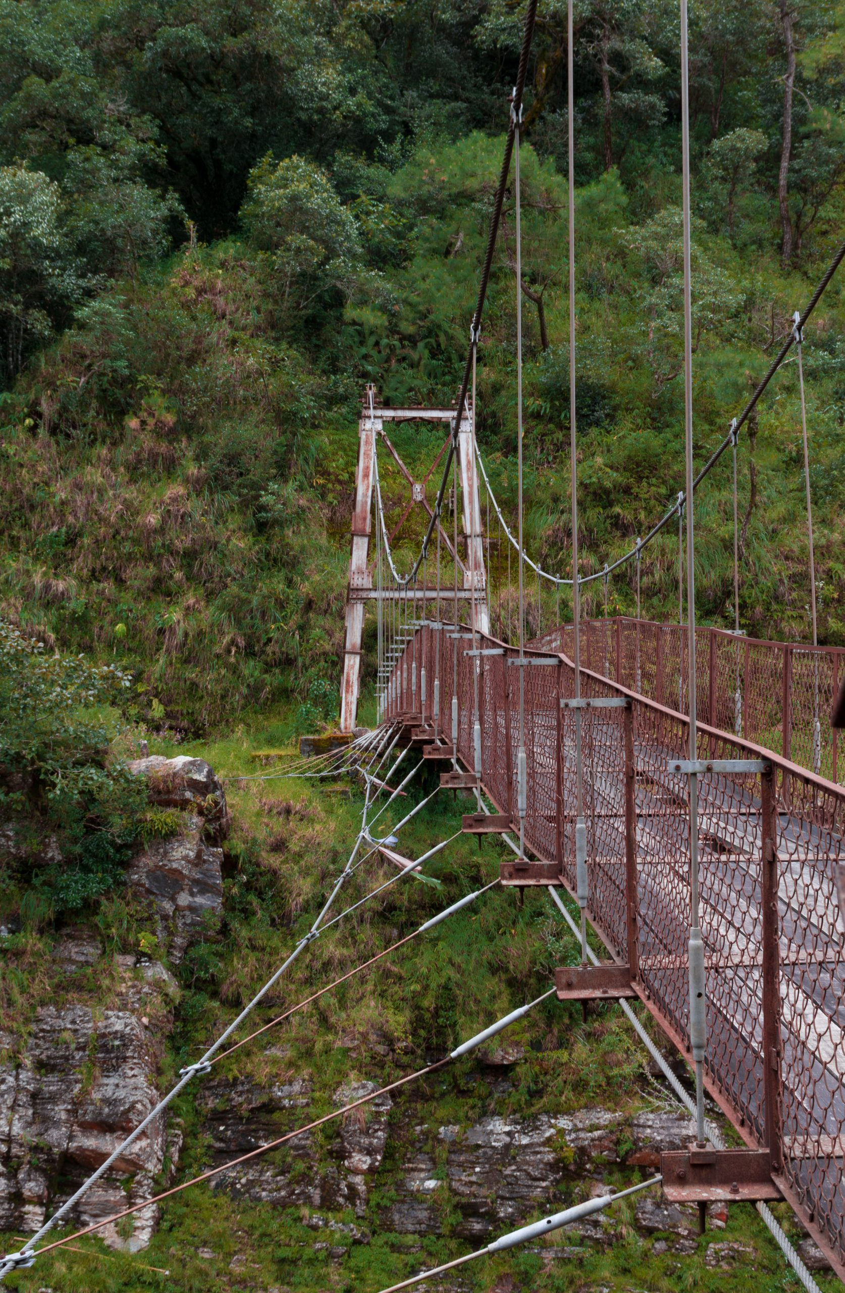 Bridge in hilly areas