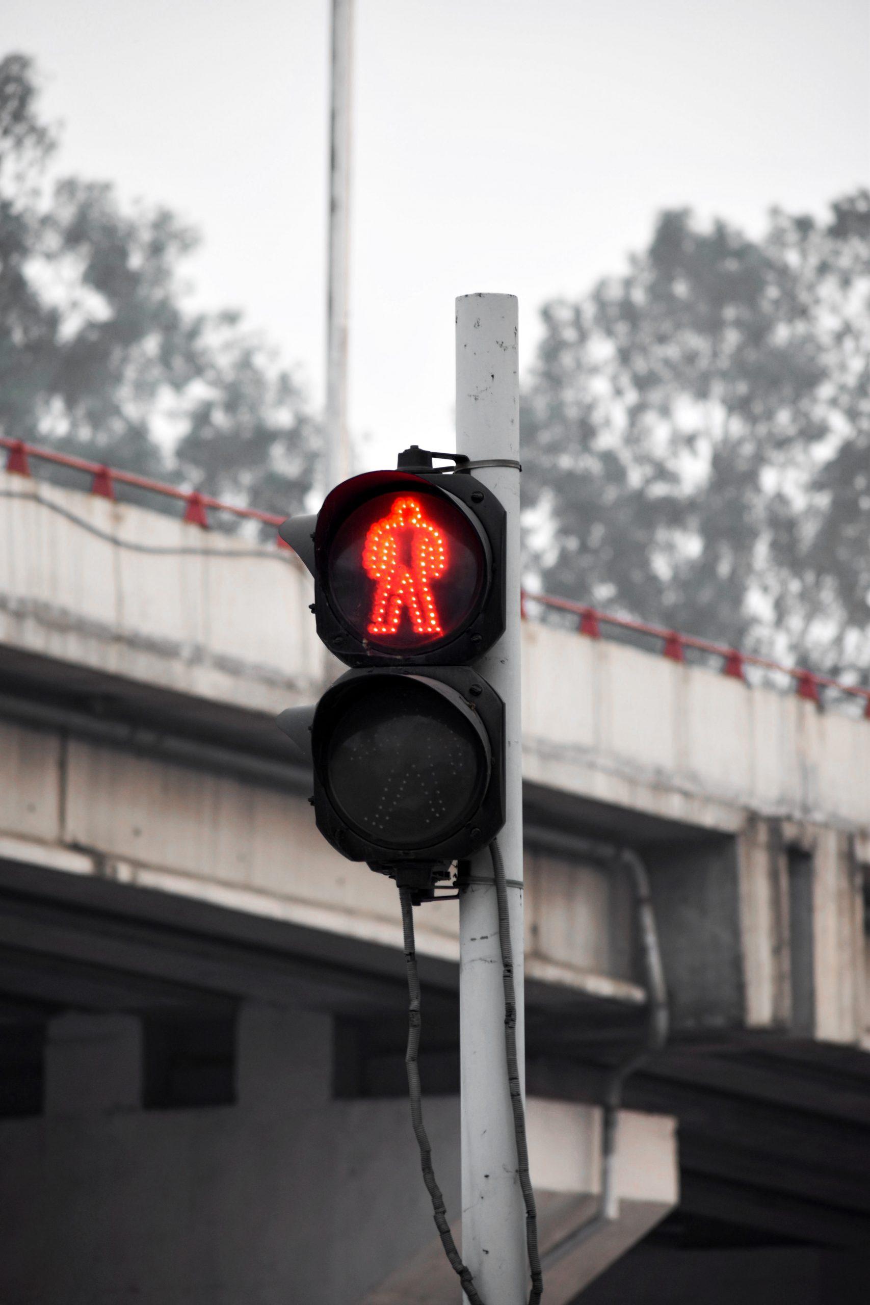 A traffic signal sign