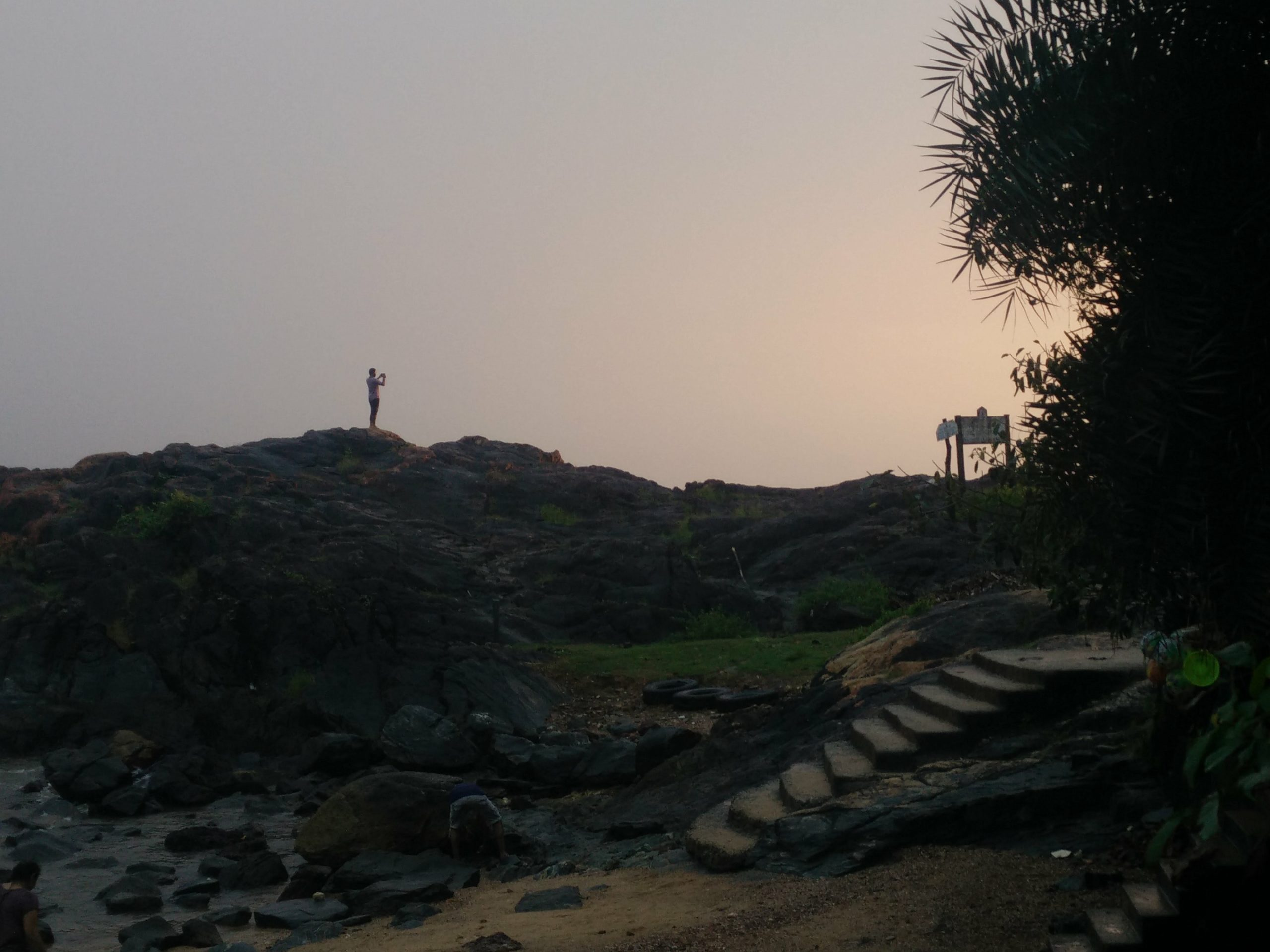 An evening at Om beach, Gokarna