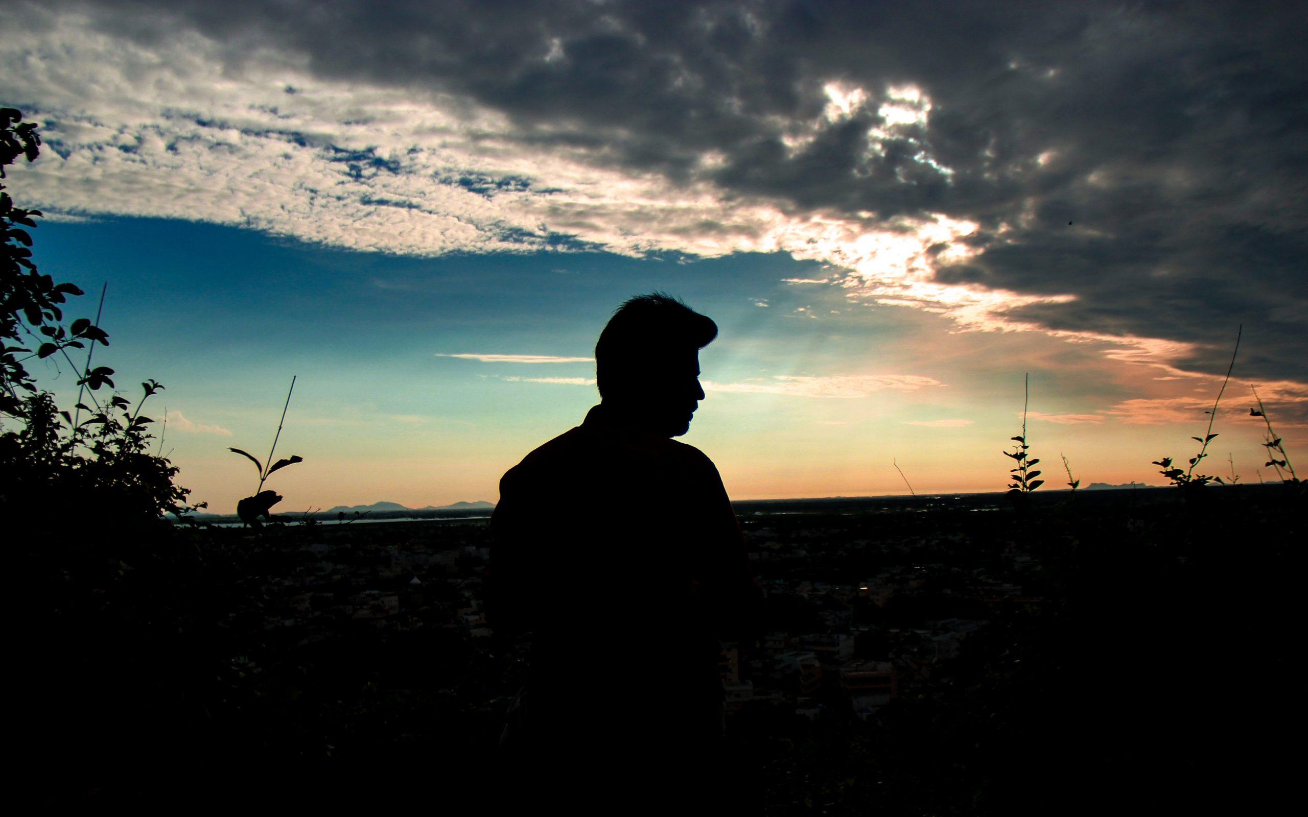 A boy during evening