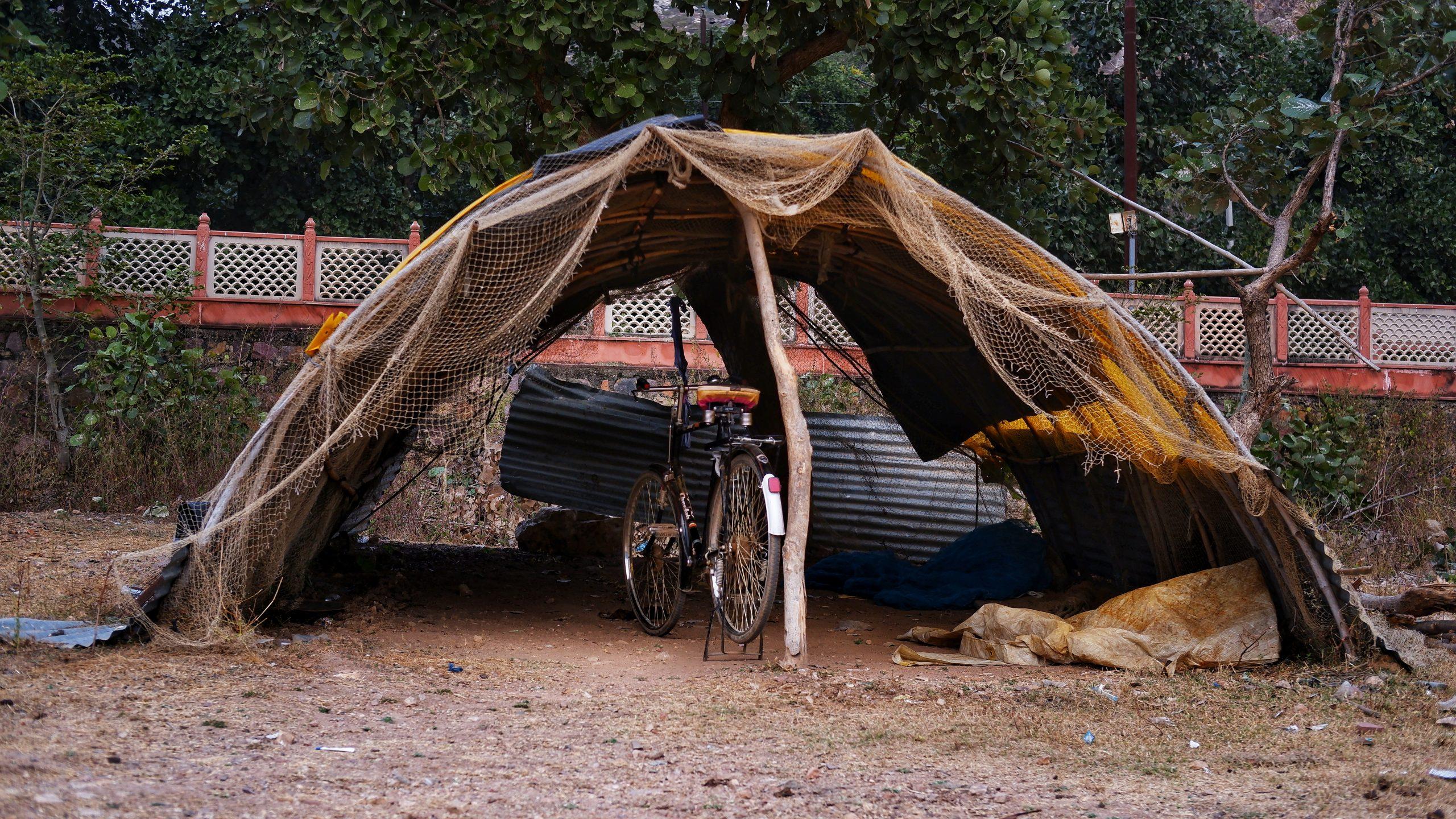 A temporary shelter
