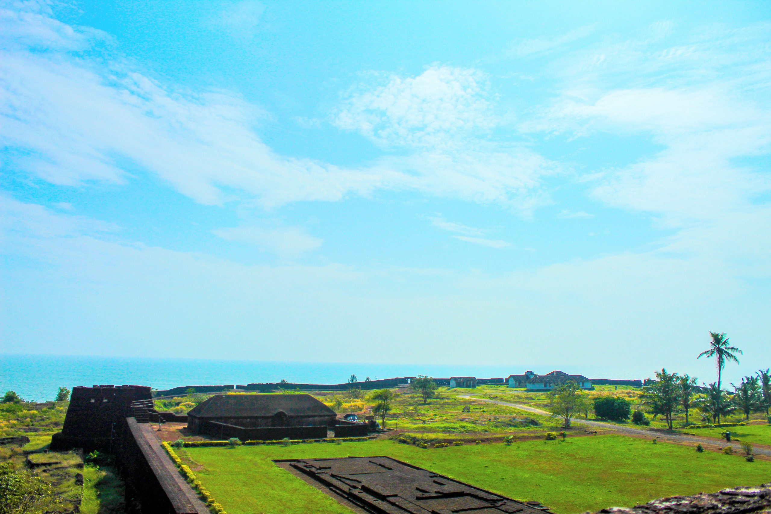 Agriculture land and fort in Kerala