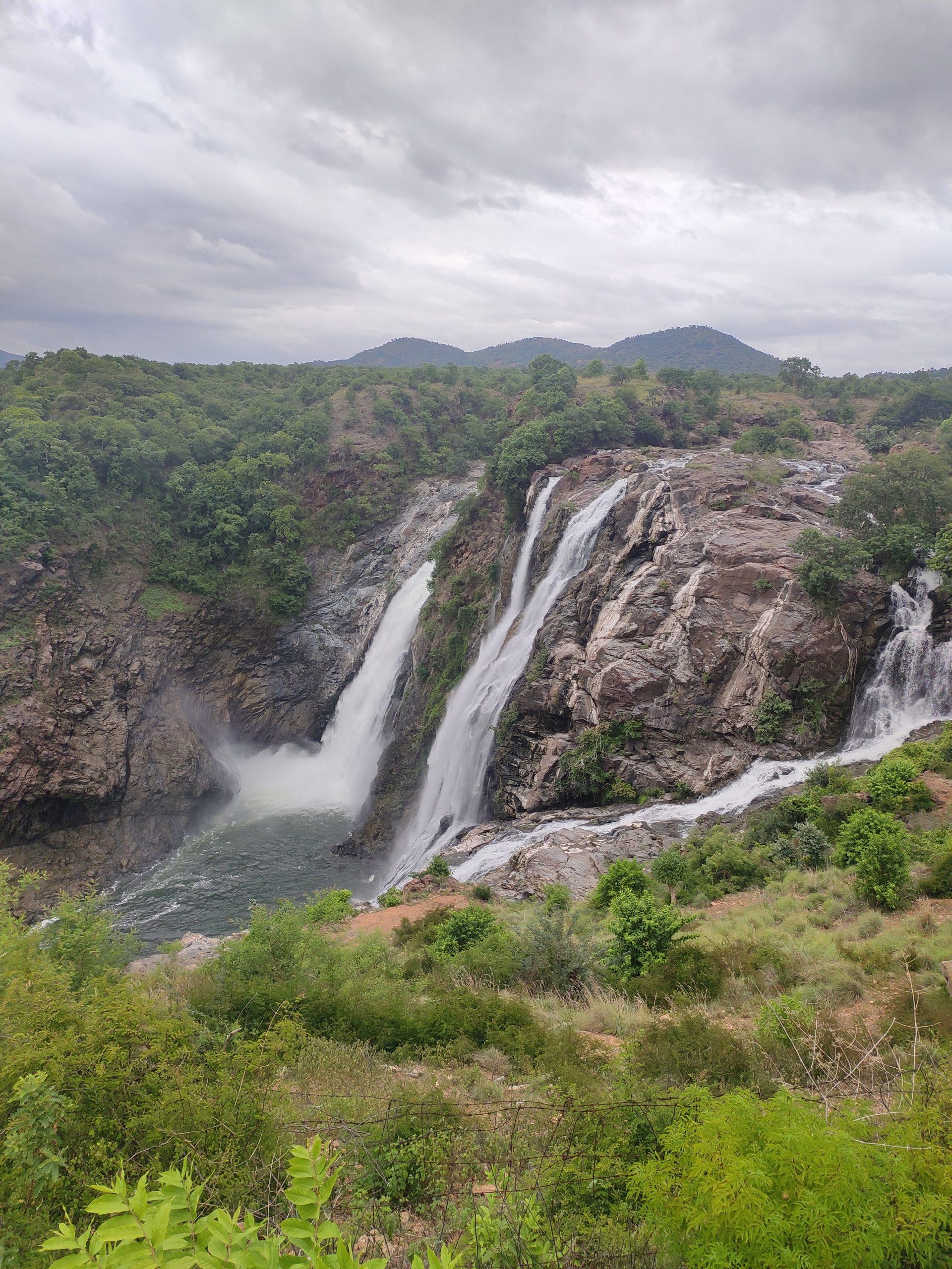 Water Falls among Hills