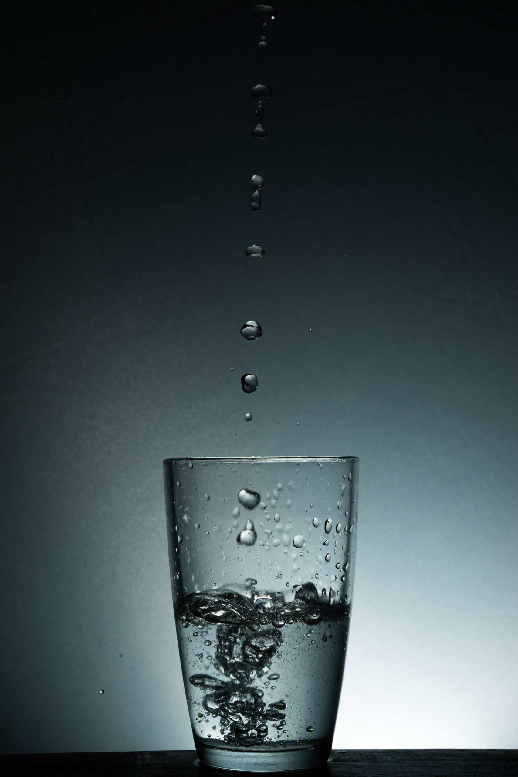 Waterdrops and glass