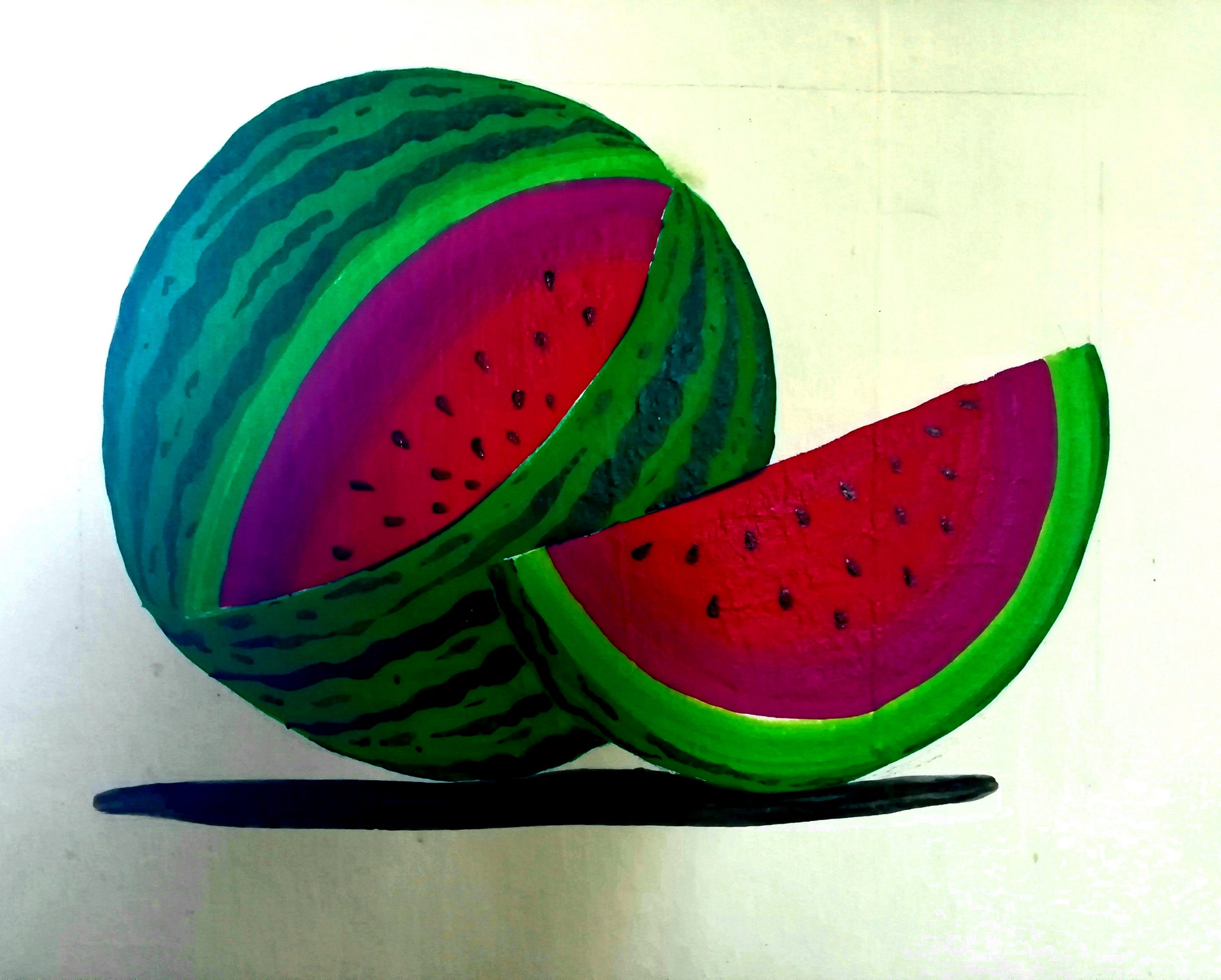 Watermelon painting on wall