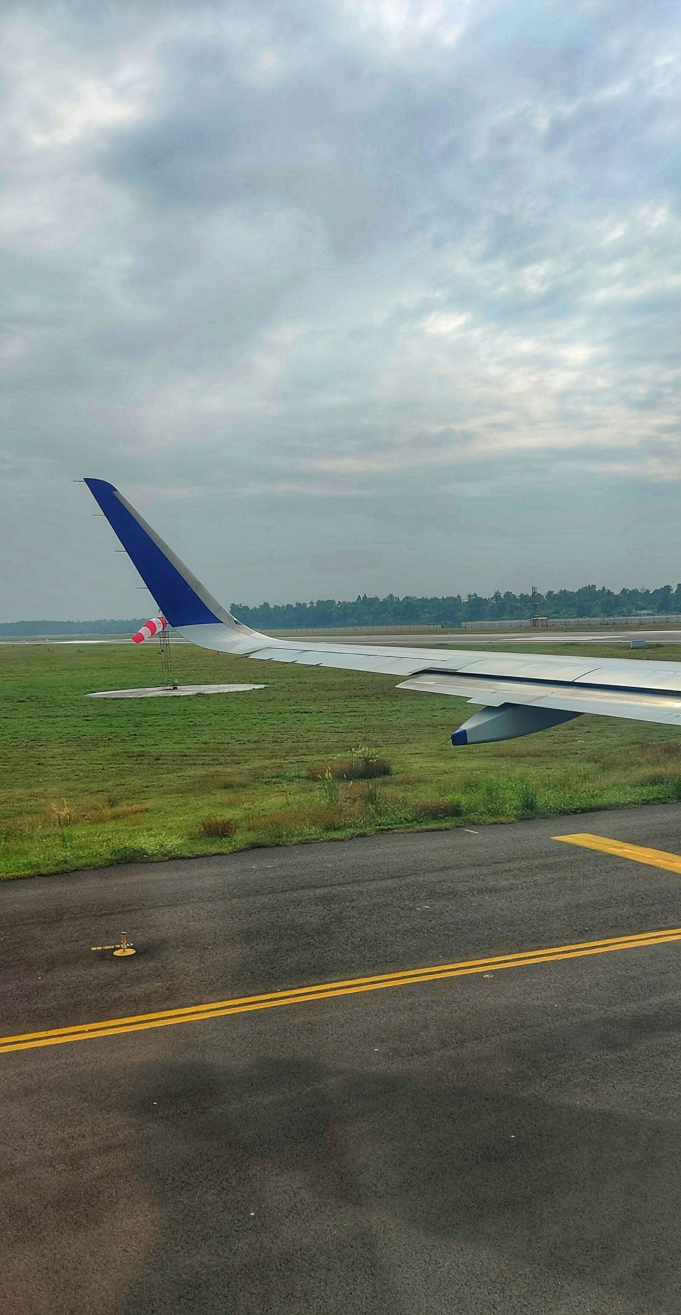 Wing of a airplane