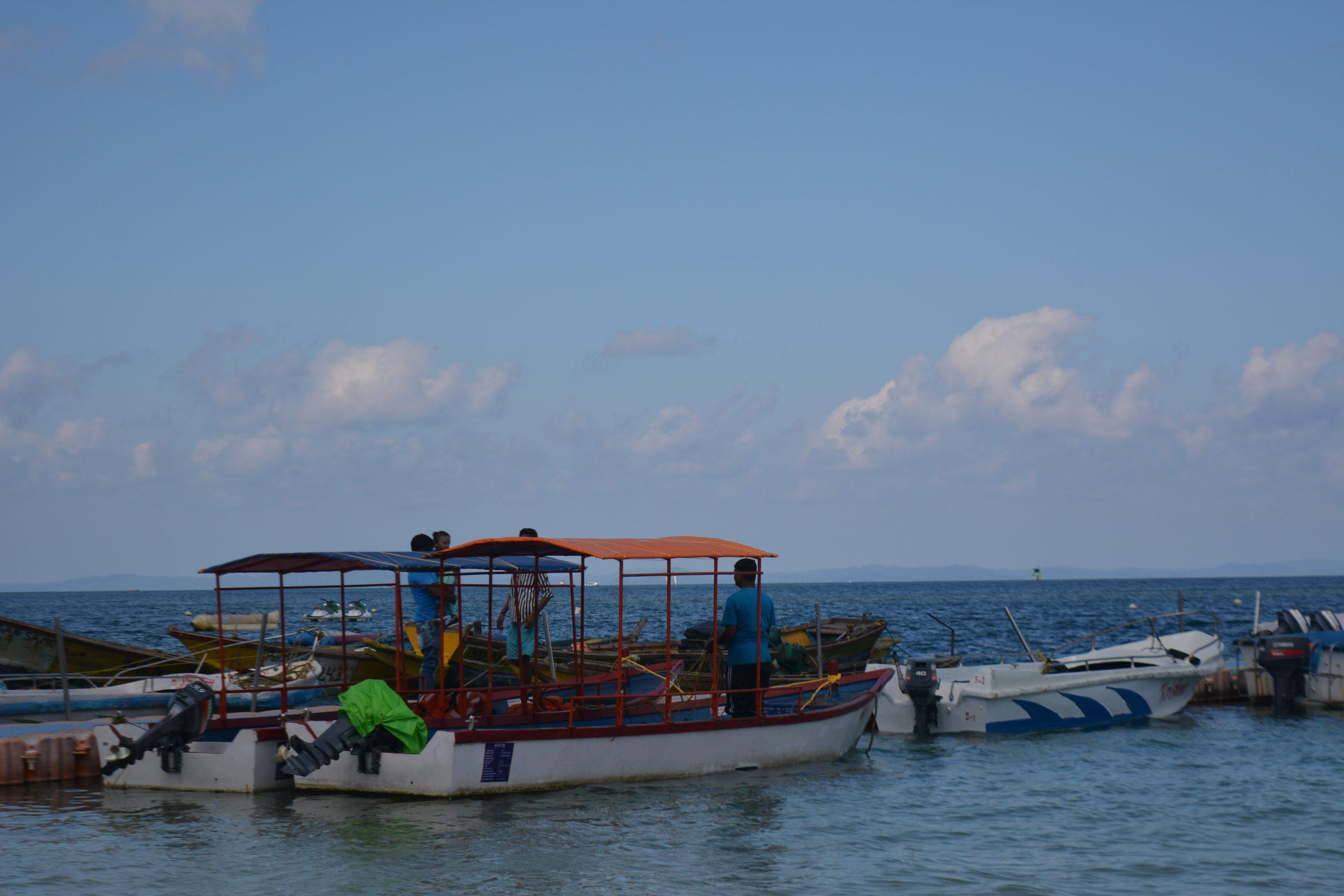 Passenger boat at a beach