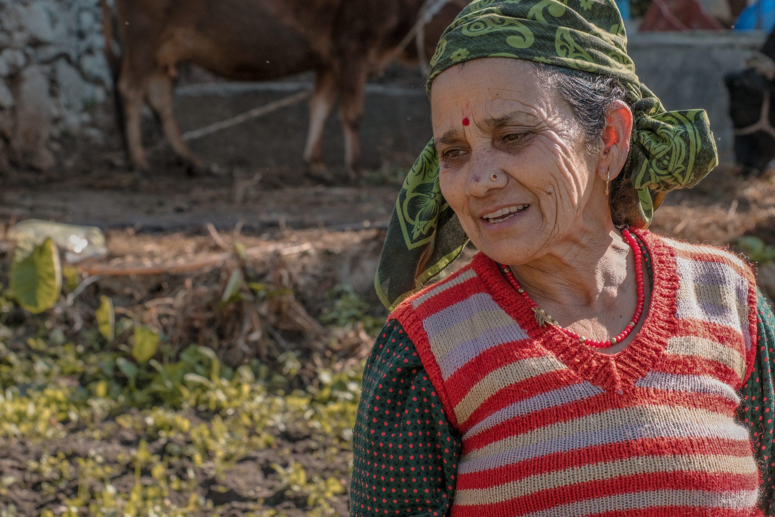 Indian female farmer