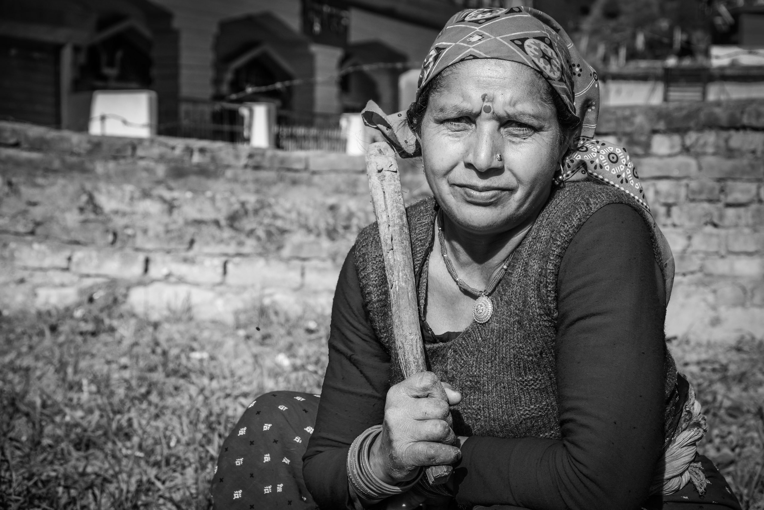 female farmer portrait