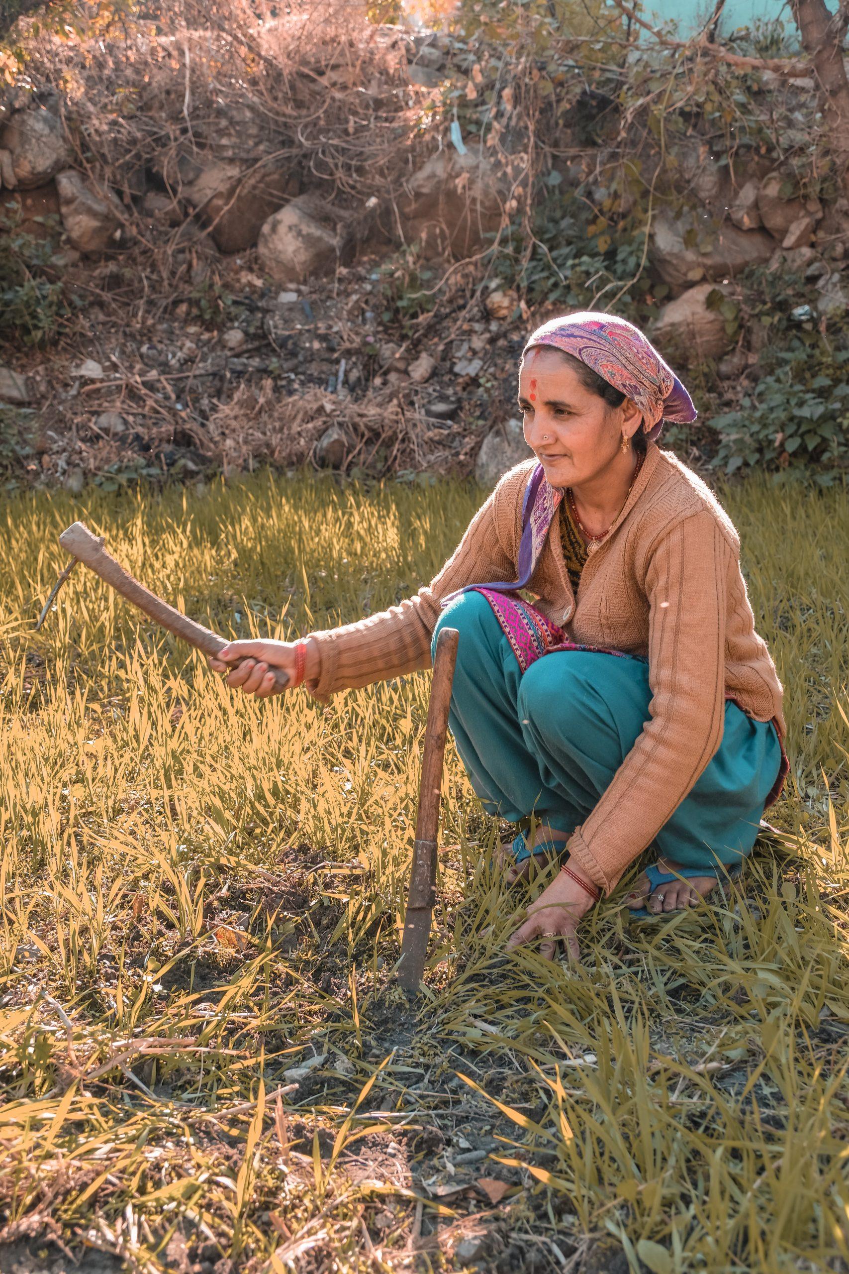 a woman farming