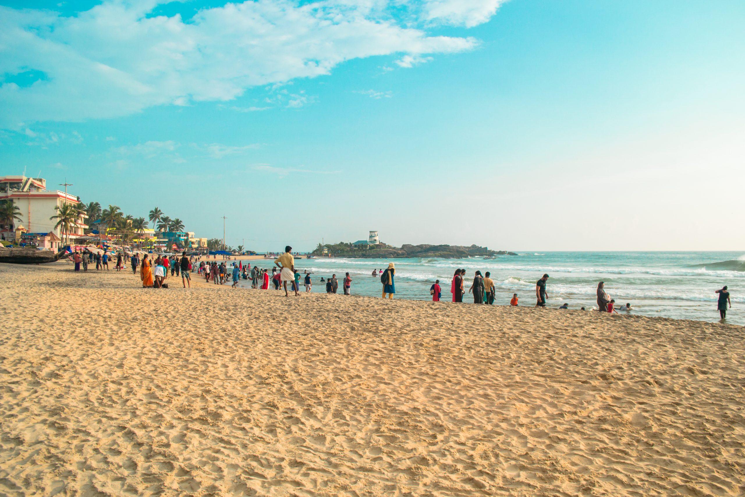 People at Kovalam beach