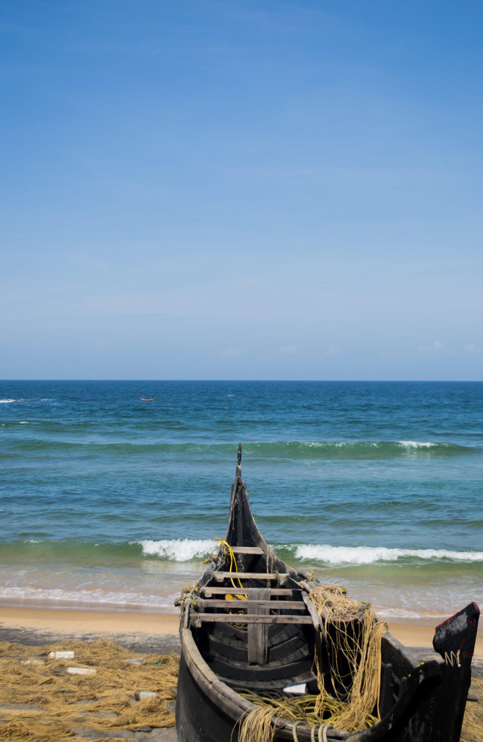 A boat on a Kovalam beach