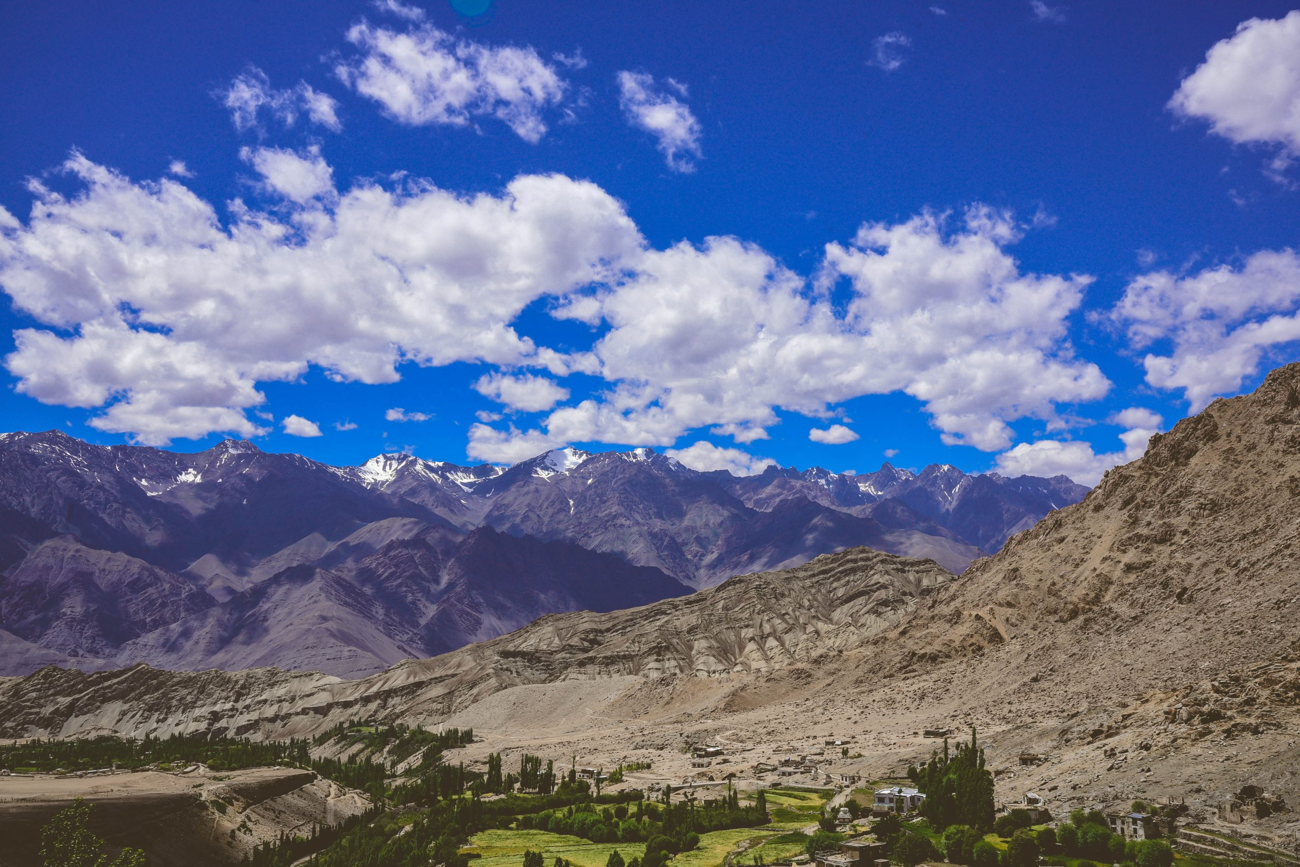 mountain valleys and the sky