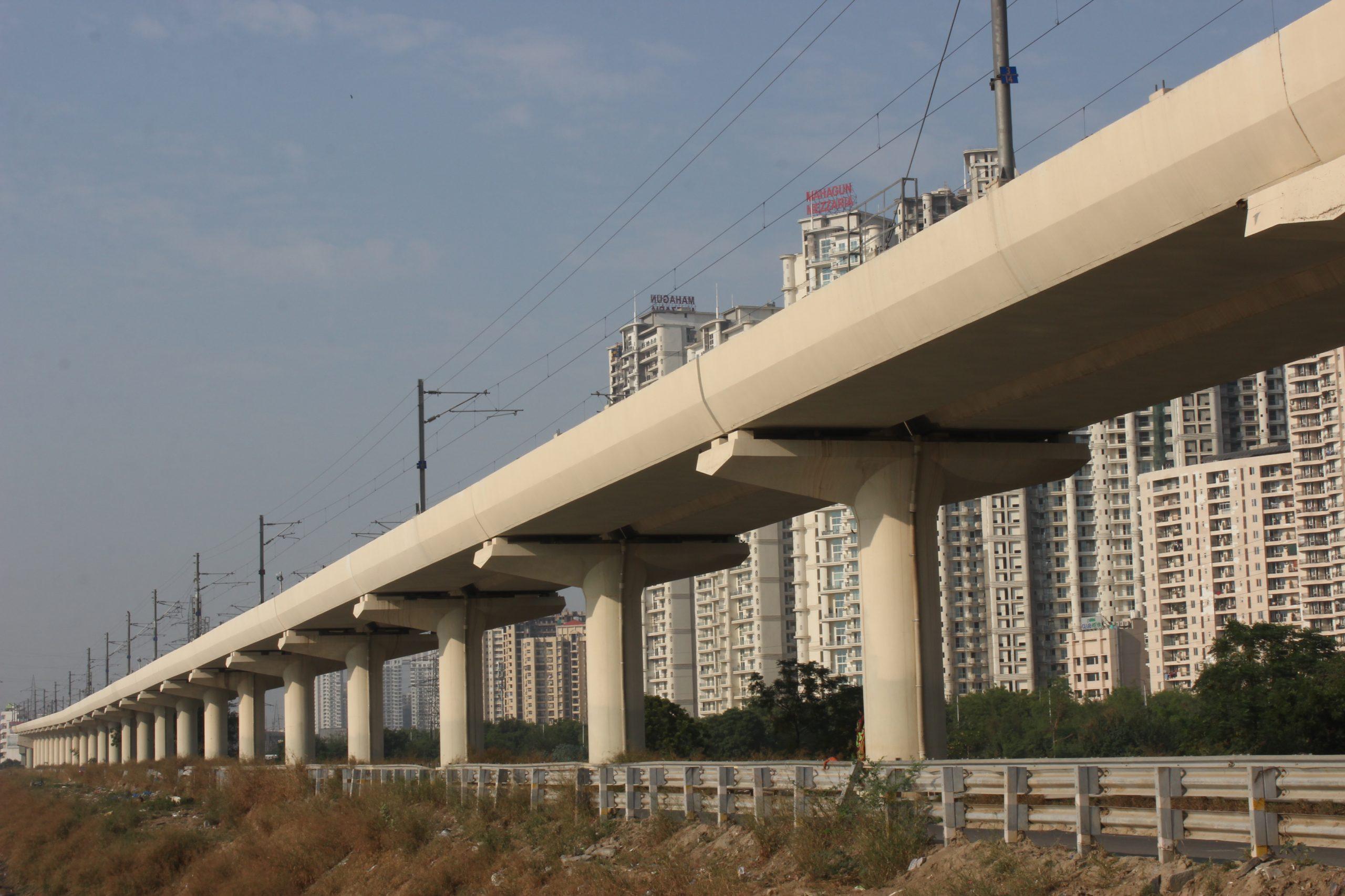 Metro train bridge