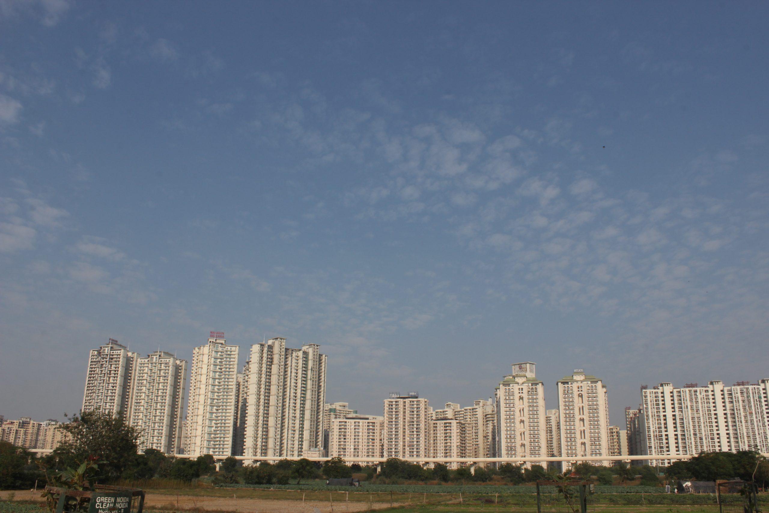 Tall buildings of Noida city