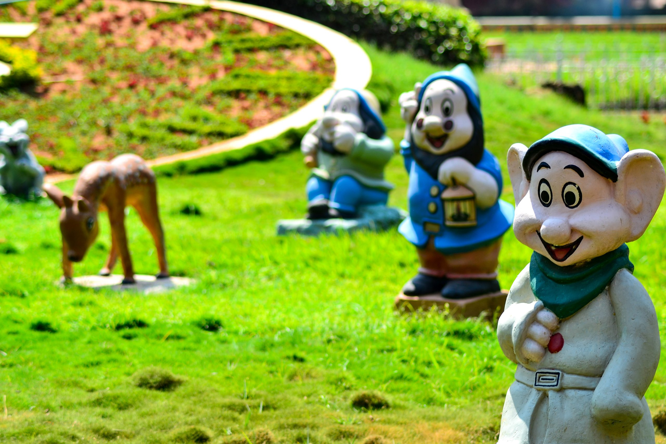 statues at park