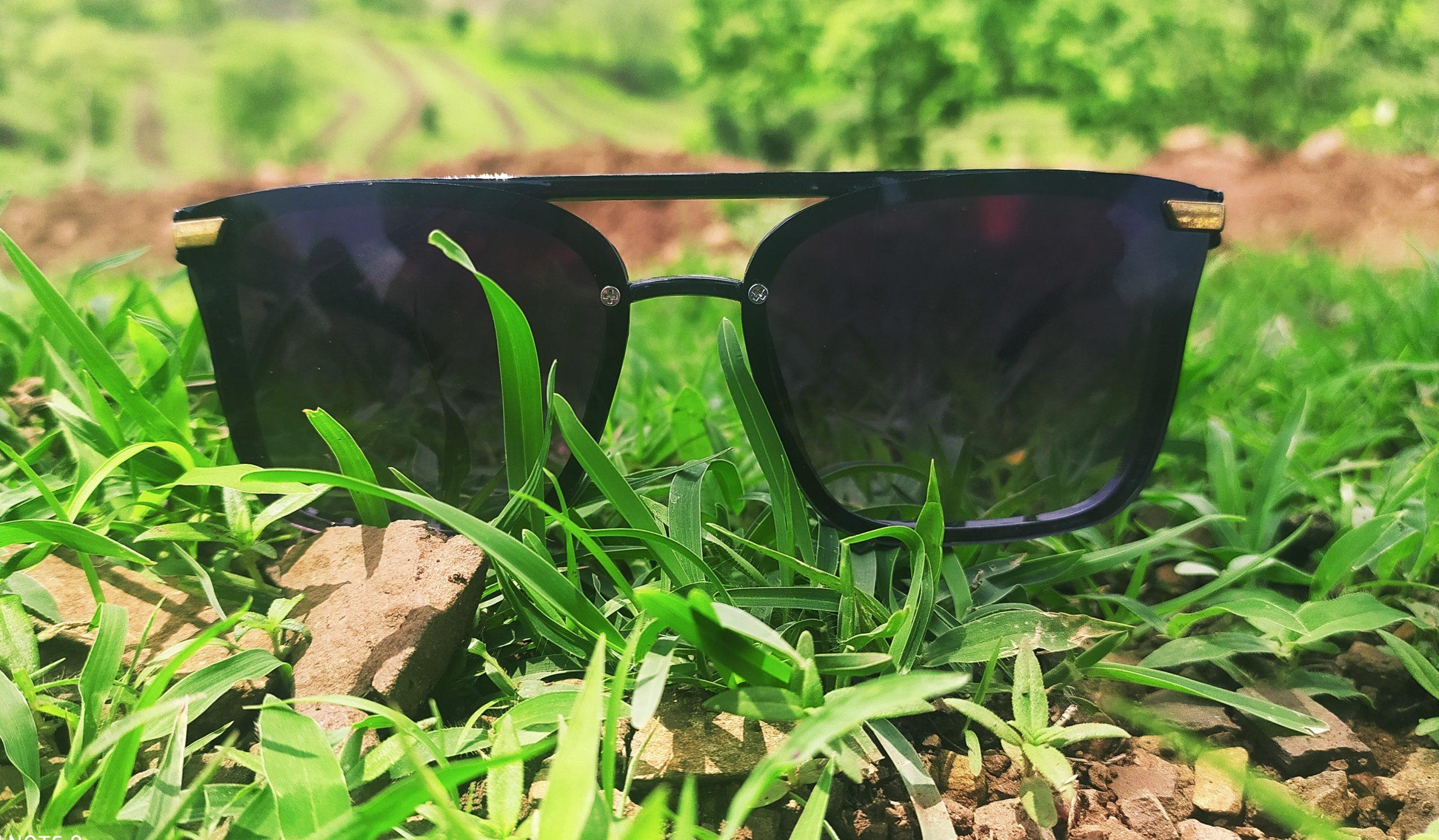 sunglasses in grass