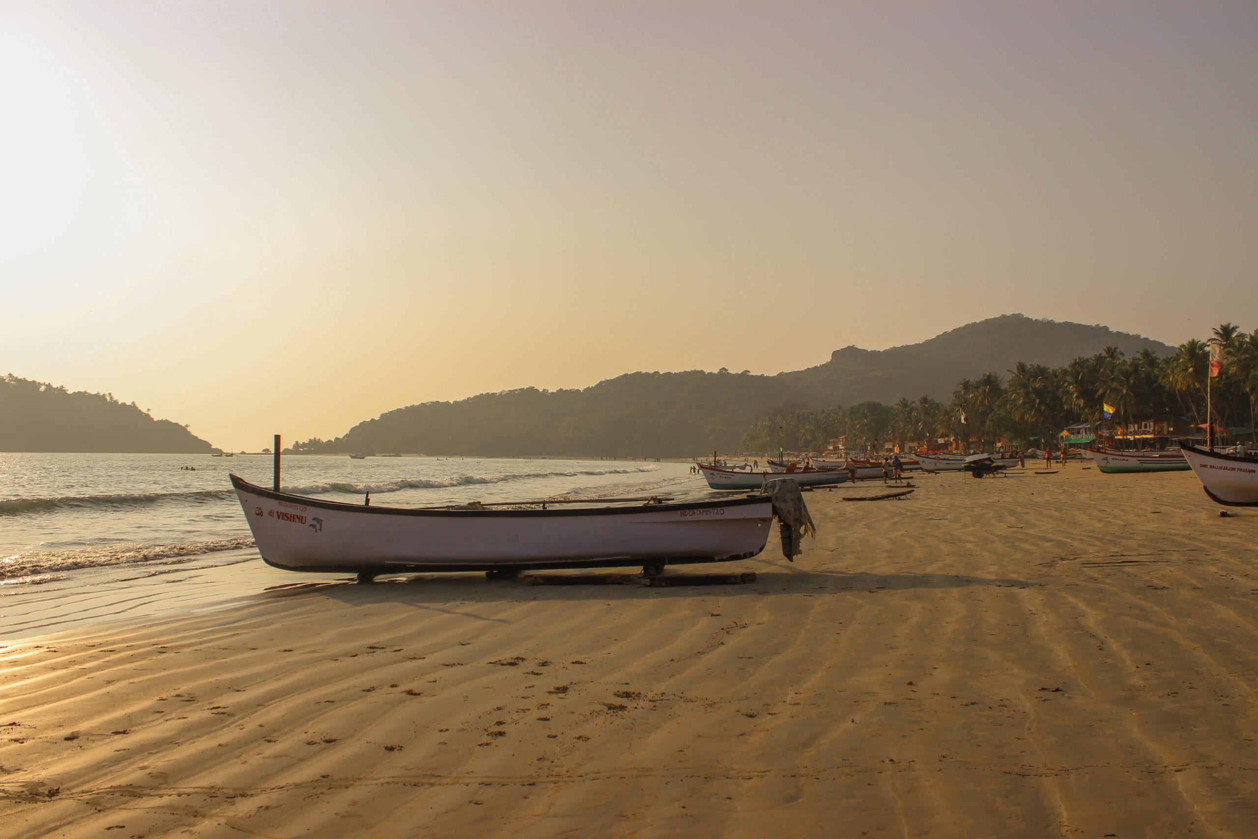 A boat at a beach