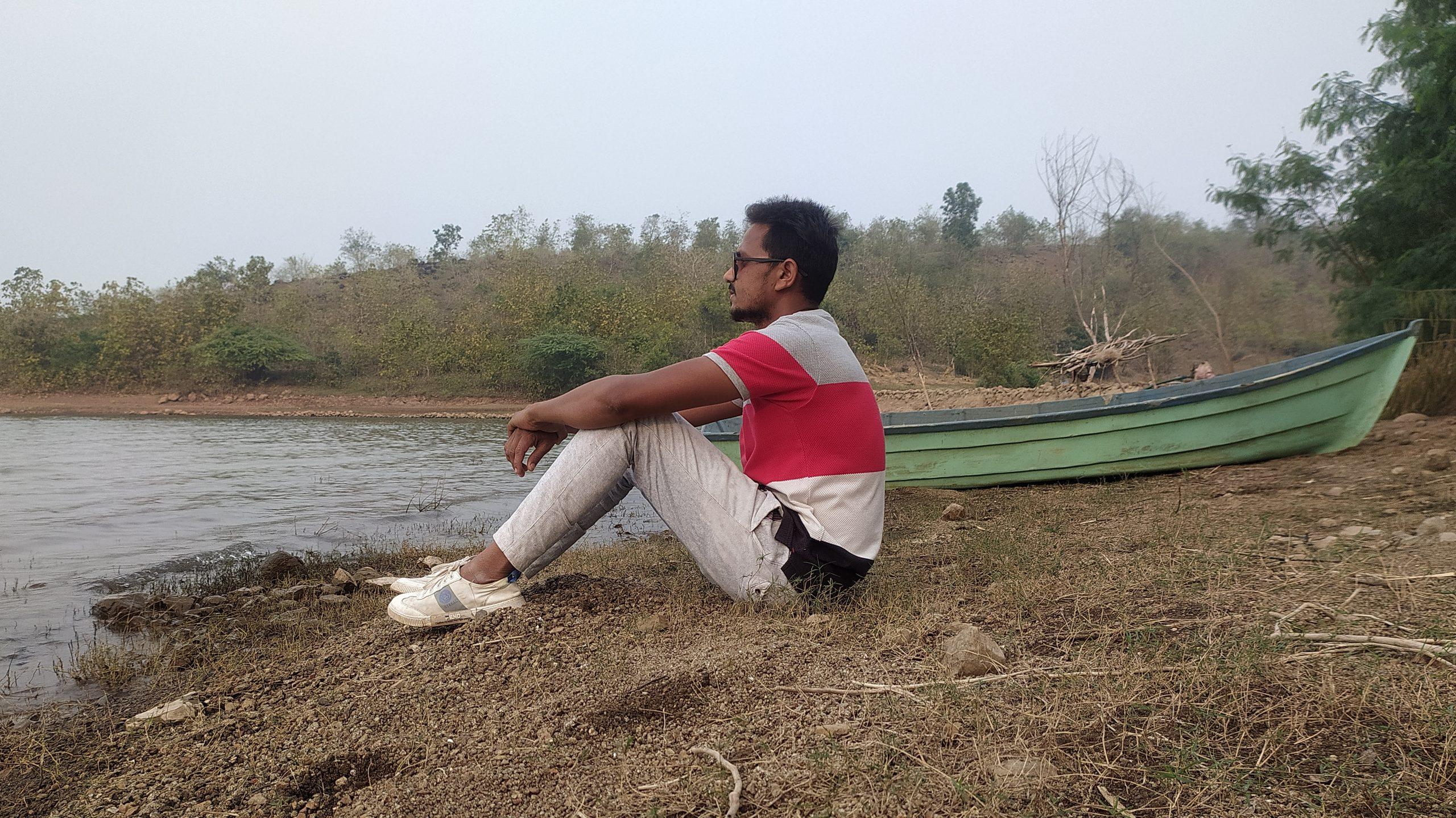 A boy near a lake