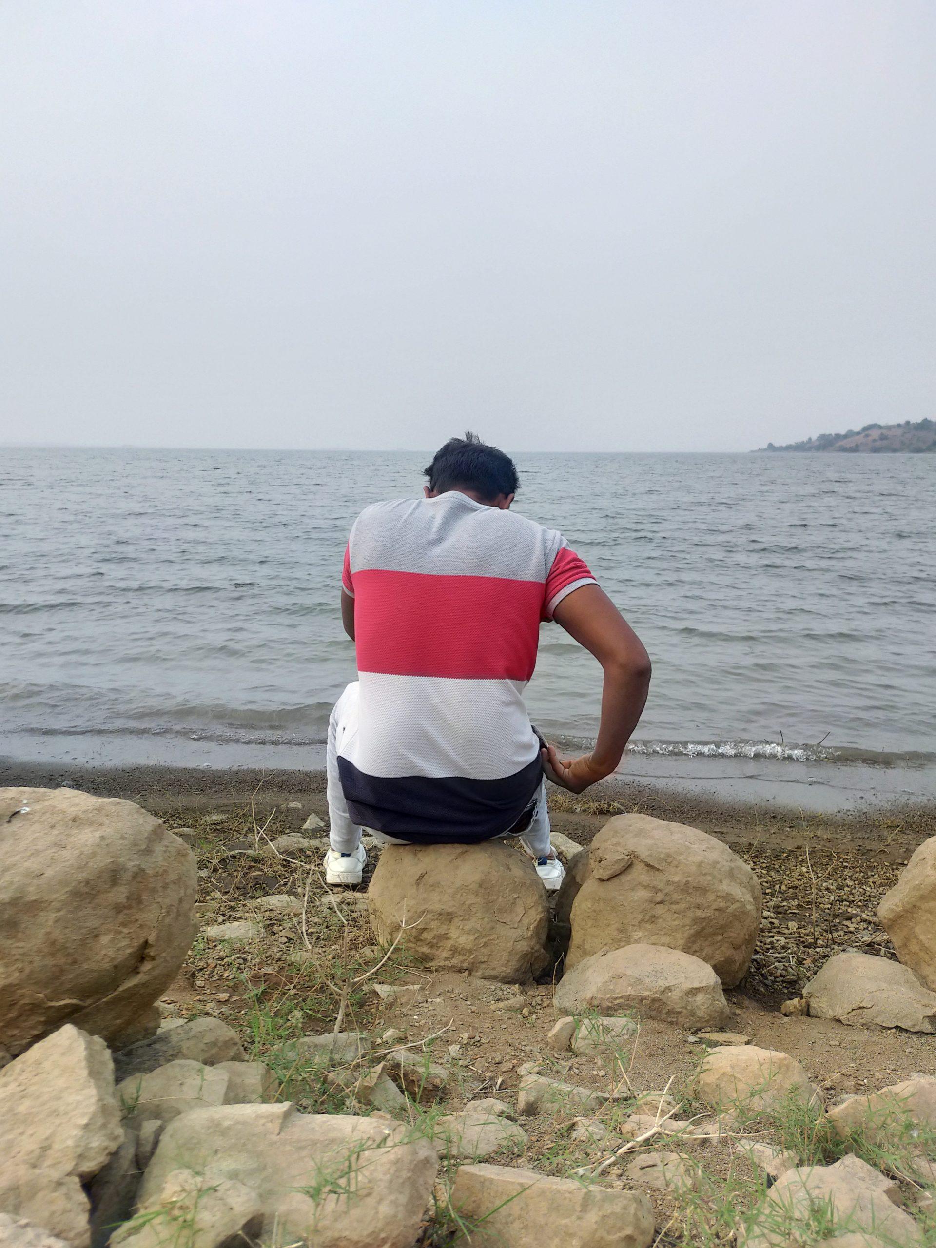 A boy on a beach