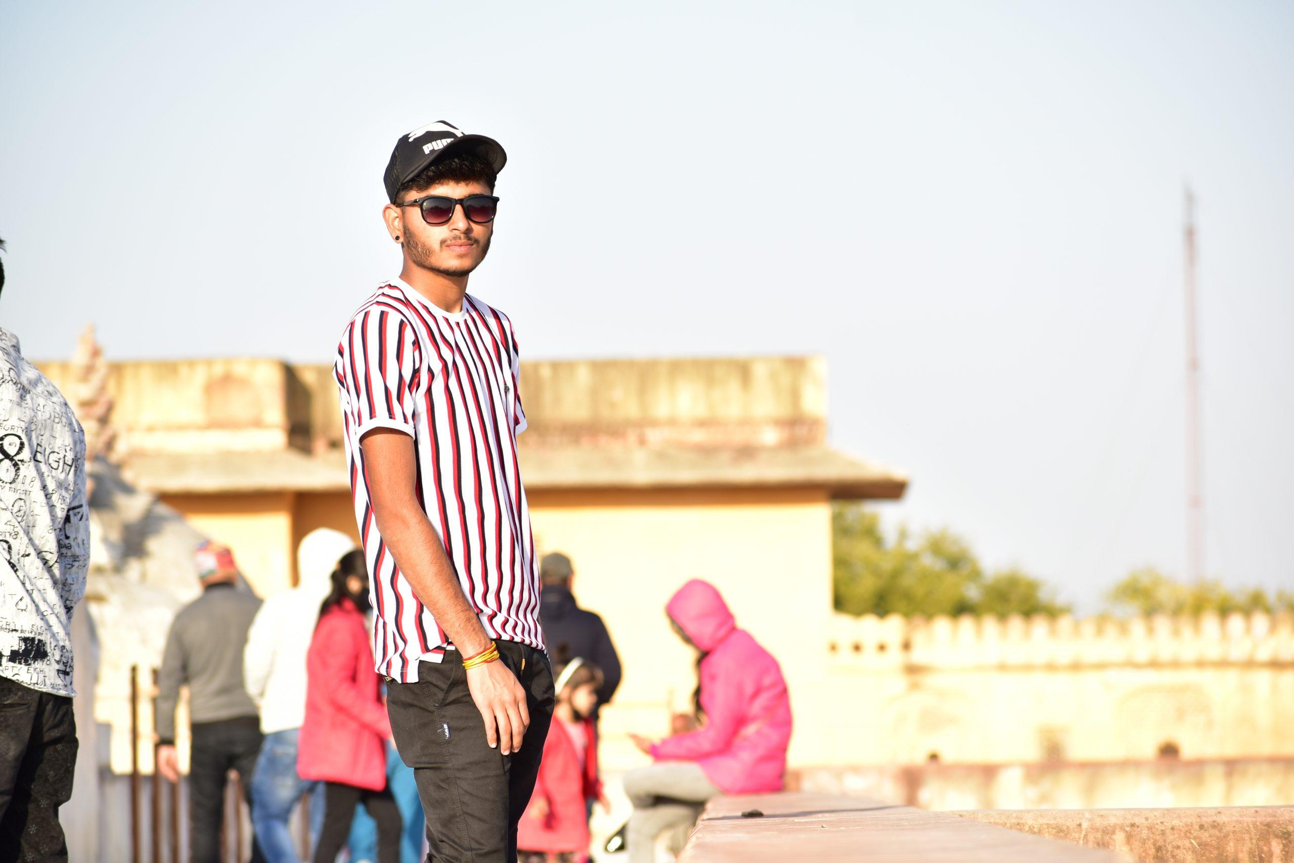 Landscape of a guy at Amer Fort, Jaipur