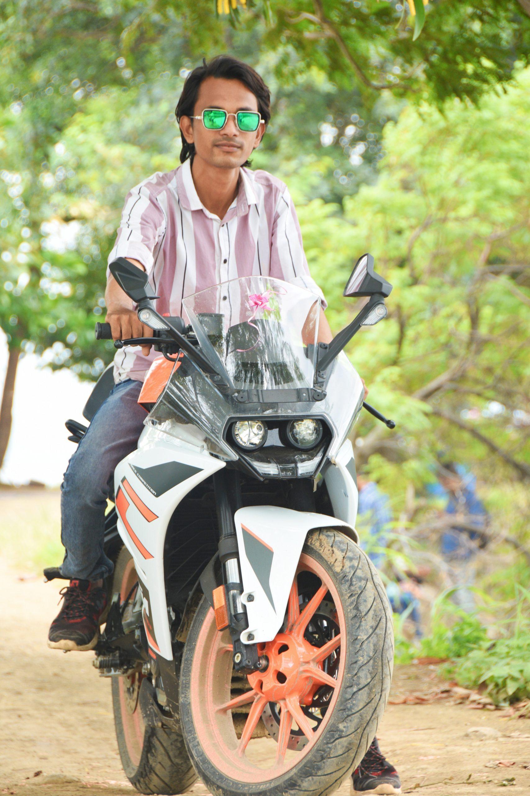 A man on his bike
